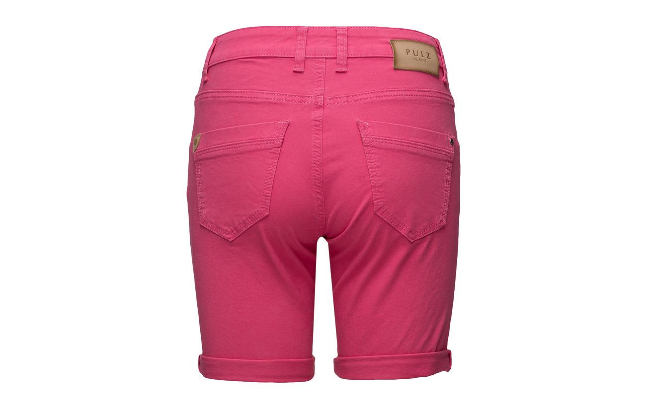Pulz Magenta Elastane Highwaist Shorts Tenna Jeans 2 Coton 98 qrq4pH