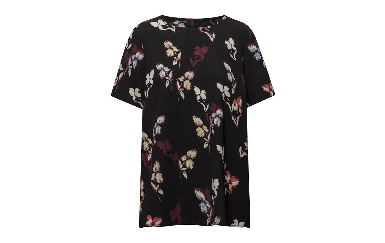95 Black 5 Elastane Pulz Blouse Polyester Flower Jeans t11qI4
