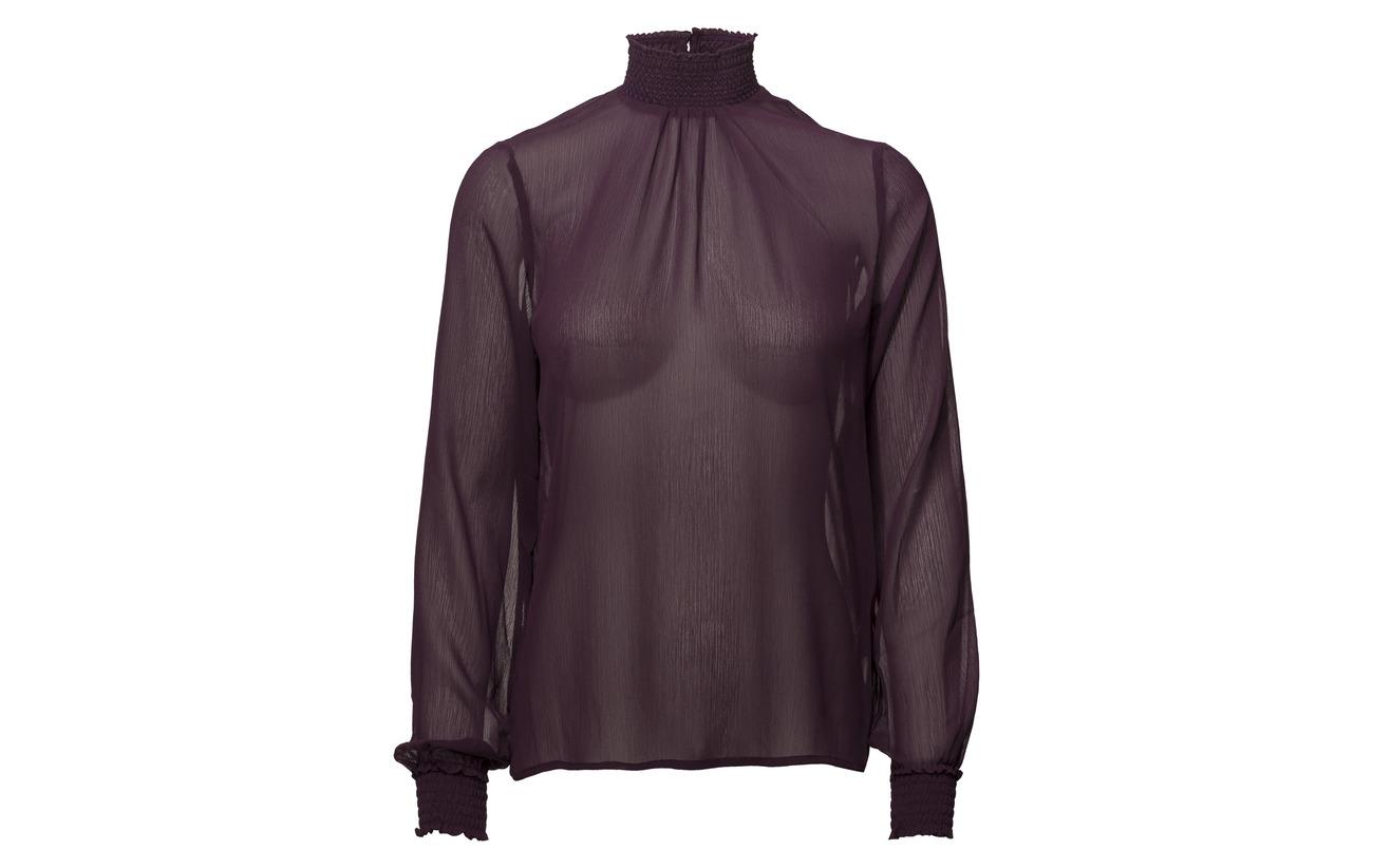 Pulz L Polyester Lisa s 100 Jeans Blouse Blackberry EqgrH4EWc