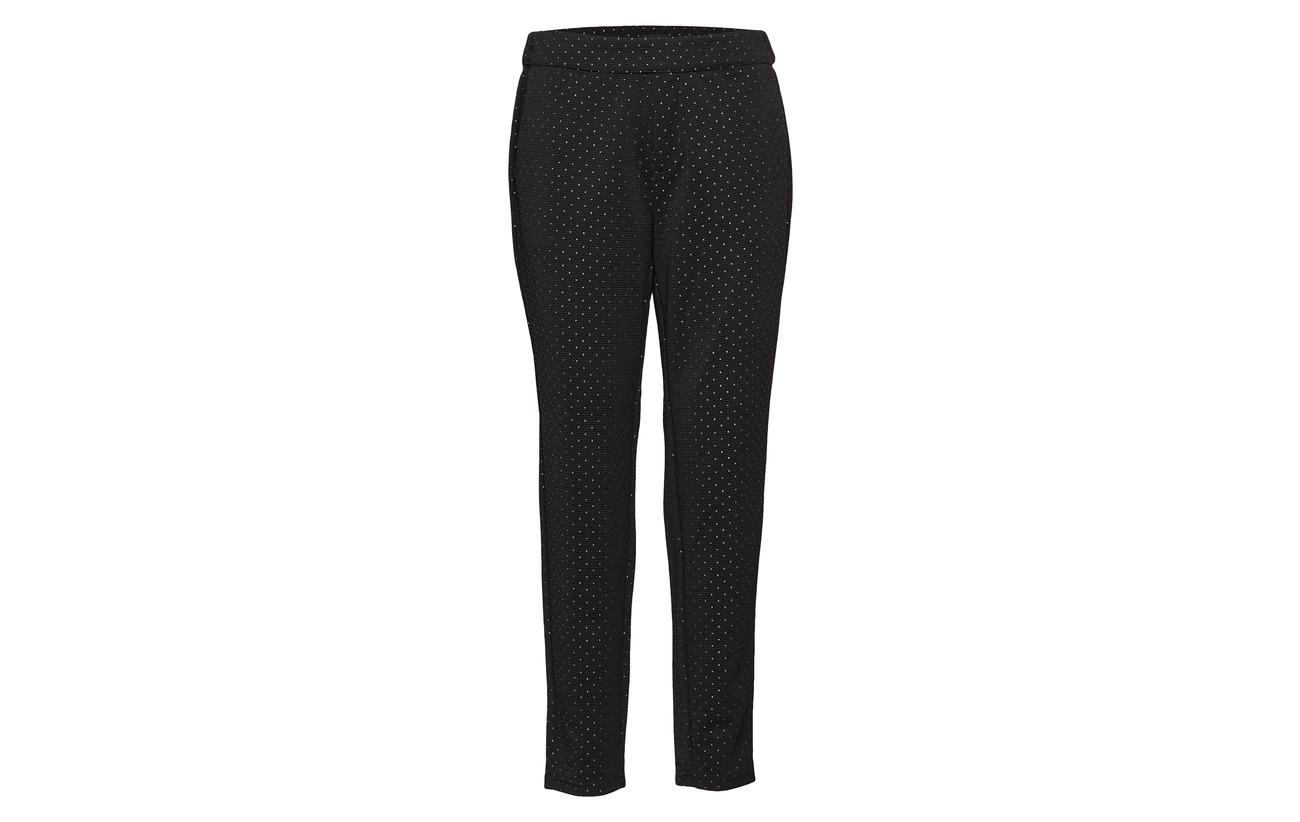 96 Sparkle Jeans Pulz 4 Elastane Pant Black Polyester Loose 5X1dnwdxq