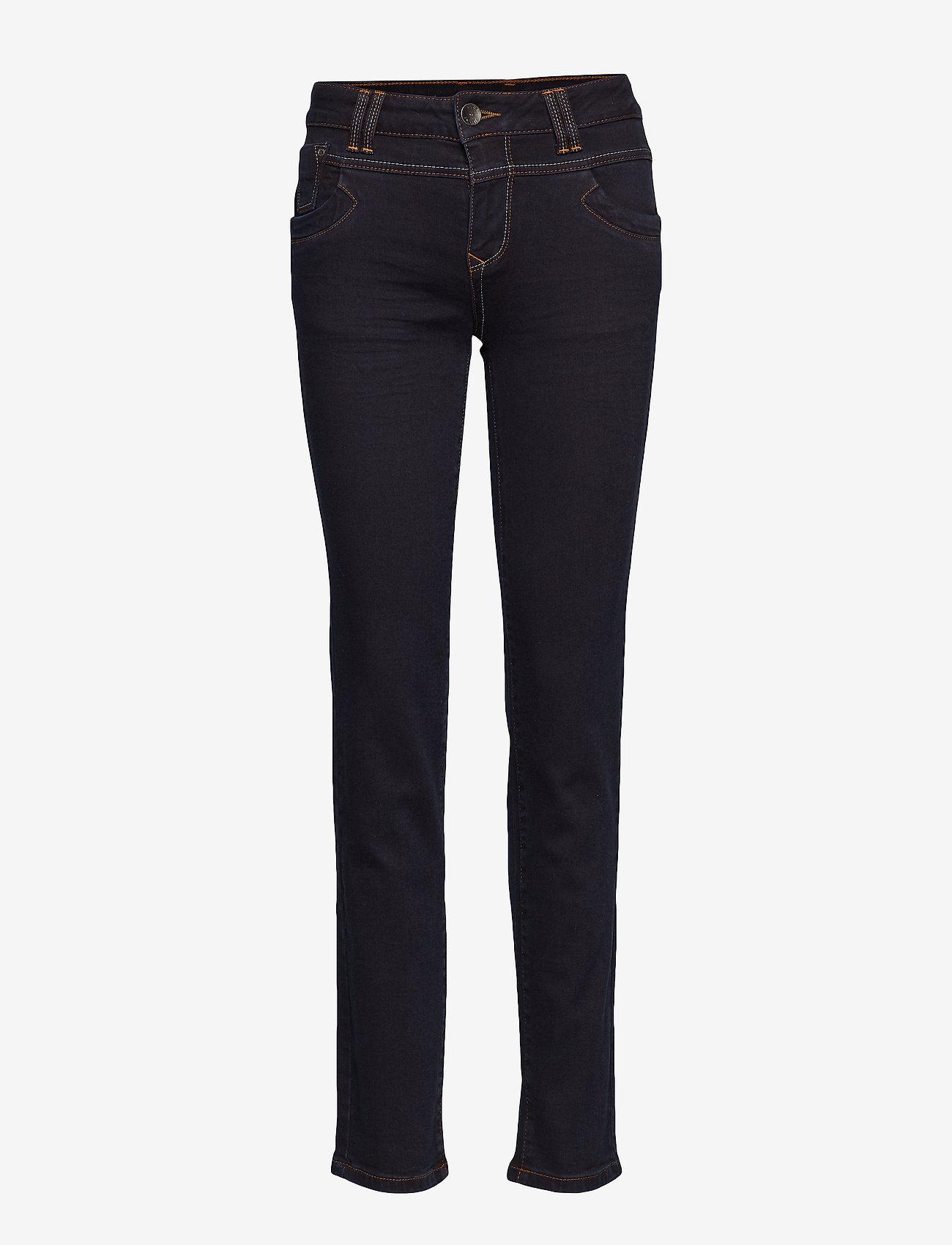 Pulz Jeans - Tenna Highwaist Straight - straight jeans - raw blue denim - 0