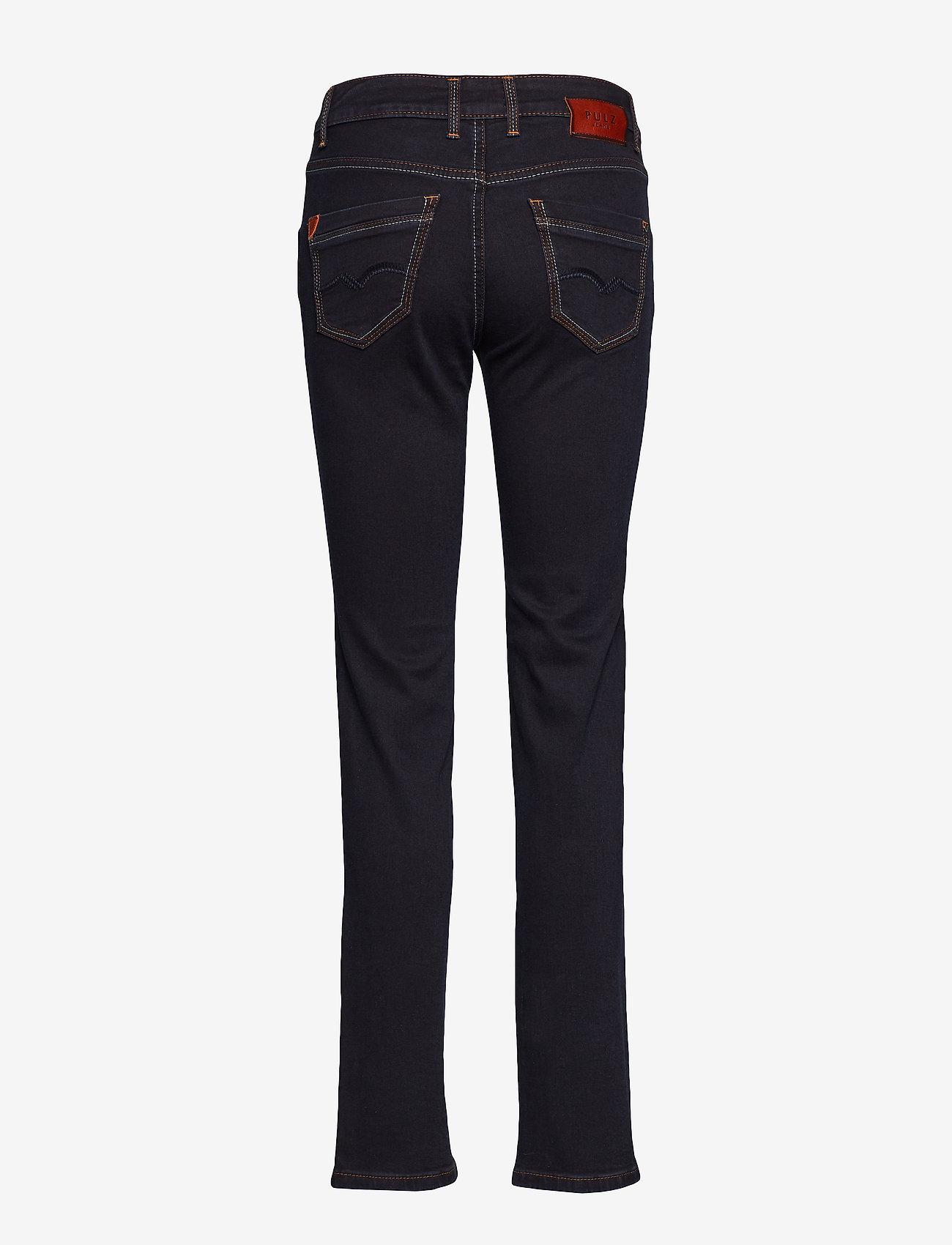 Pulz Jeans - Tenna Highwaist Straight - straight jeans - raw blue denim - 1