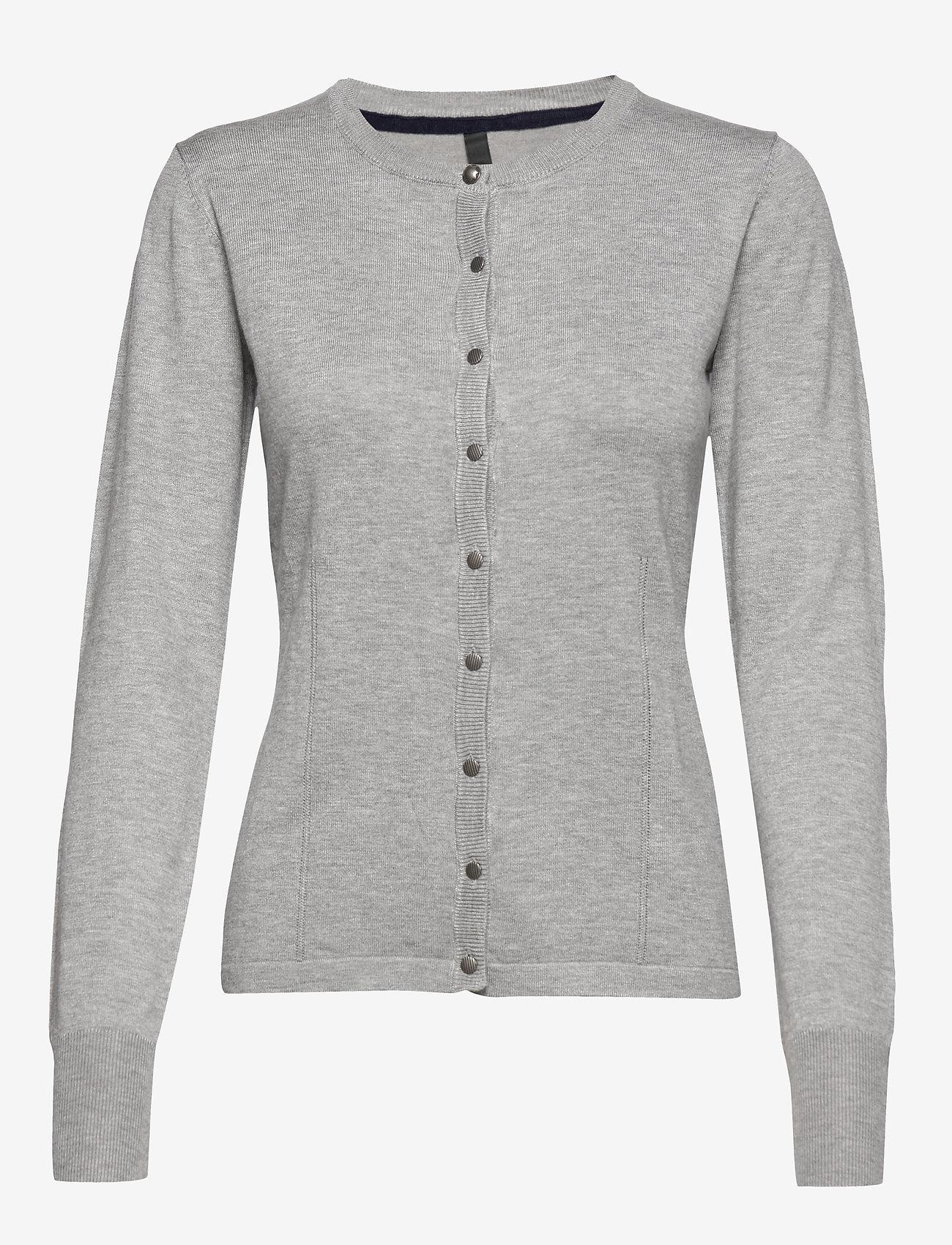 Pulz Jeans - PZSARA L/S Cardigan - cardigans - light grey melange - 0