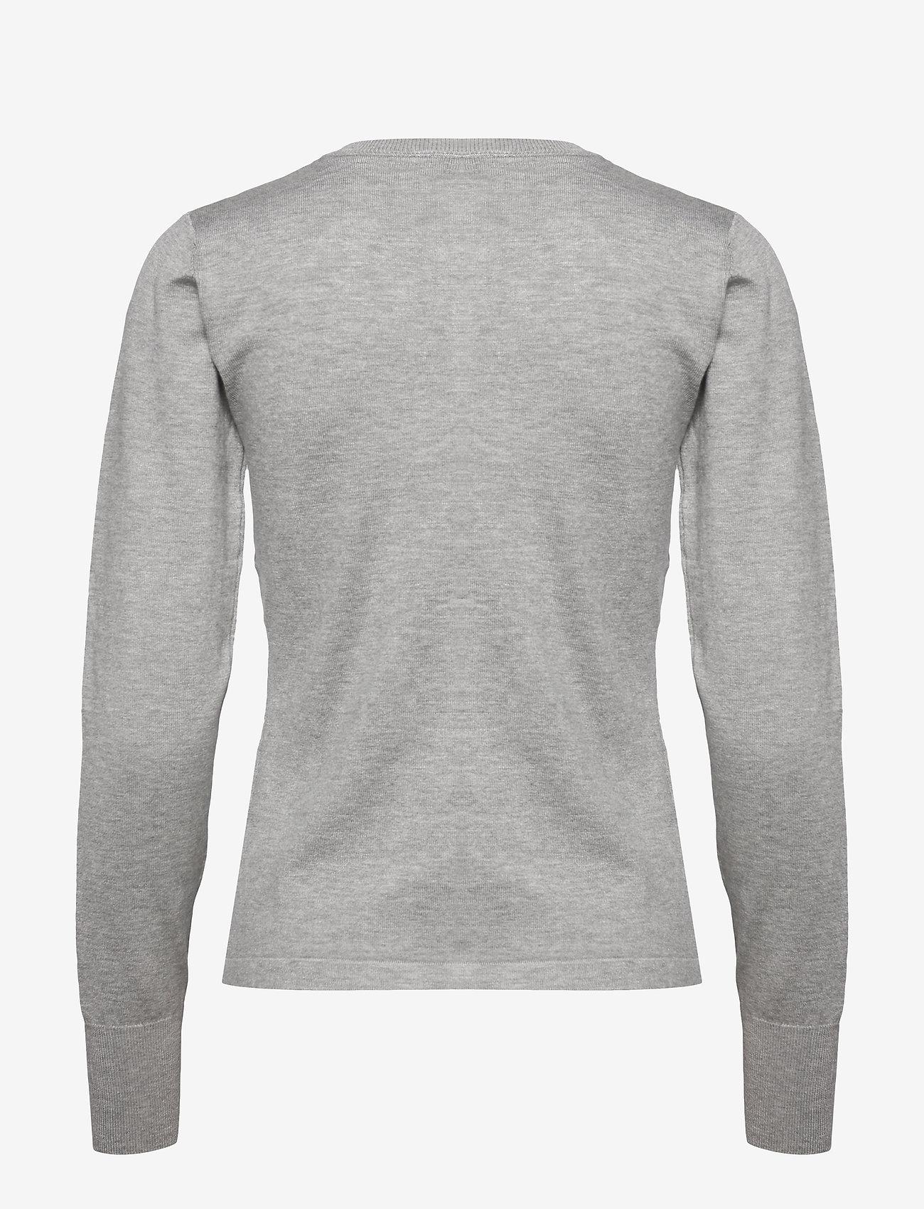 Pulz Jeans - PZSARA L/S Cardigan - cardigans - light grey melange - 1