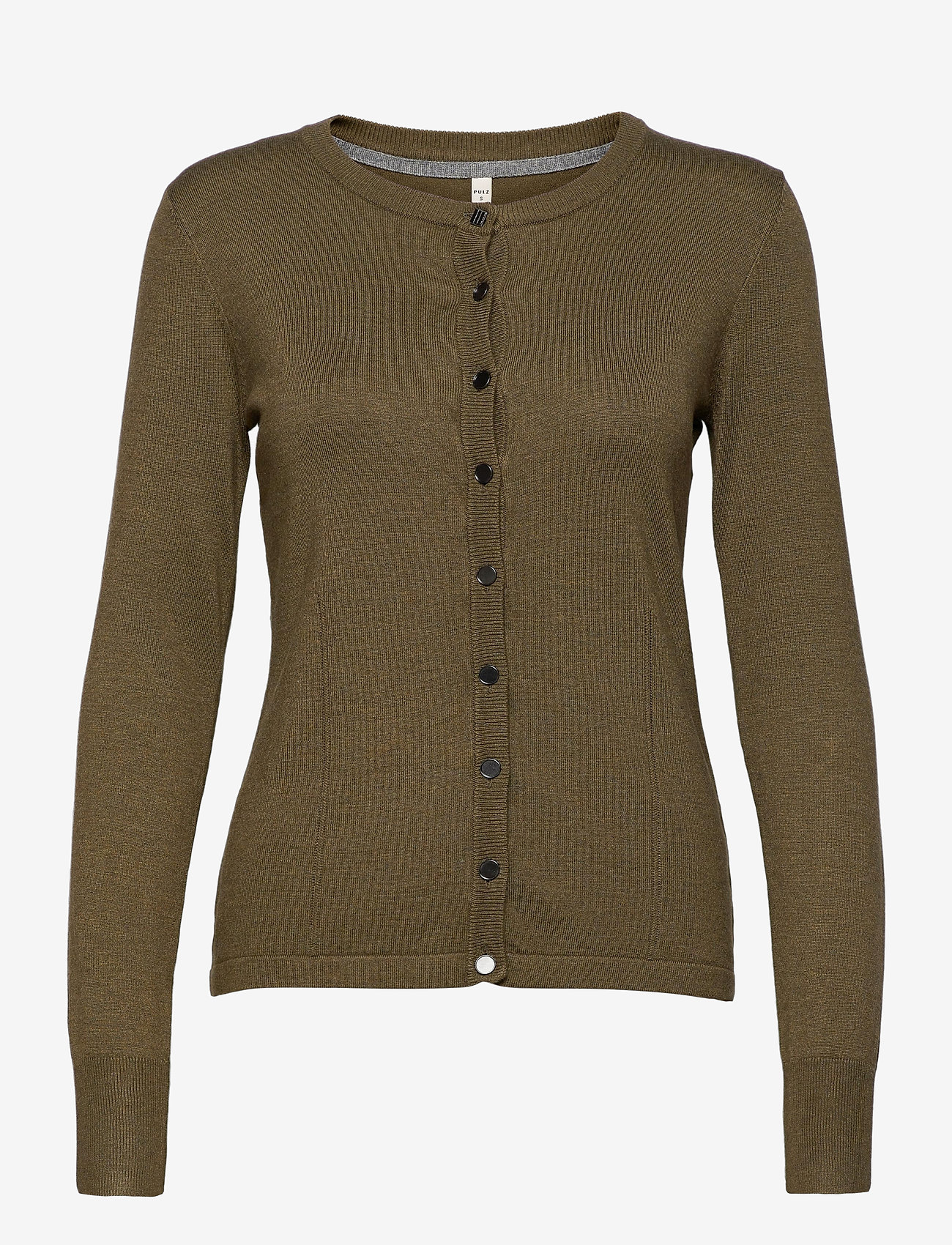 Pulz Jeans - PZSARA L/S Cardigan - koftor - stone gray melange - 0