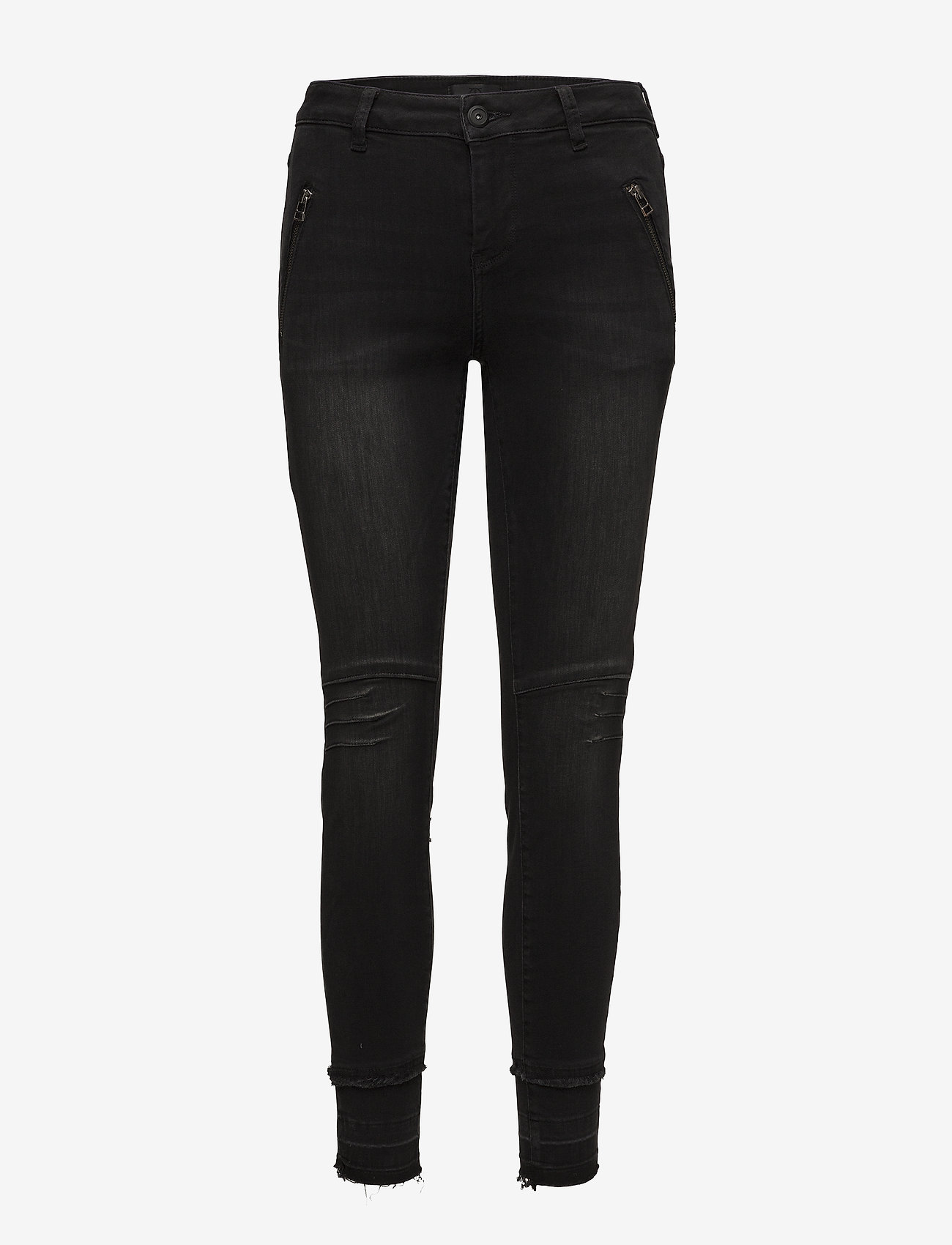 Pulz Jeans - Laura Highwaist Ankle Lenght - skinny jeans - grey denim