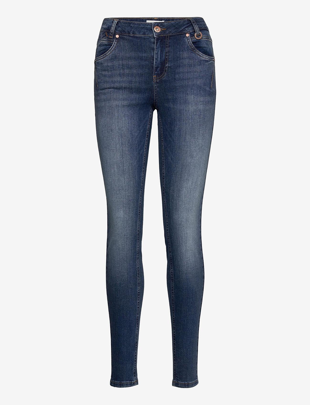 Pulz Jeans - PZEMMA Highwaist Skinny - skinny jeans - medium blue denim - 0