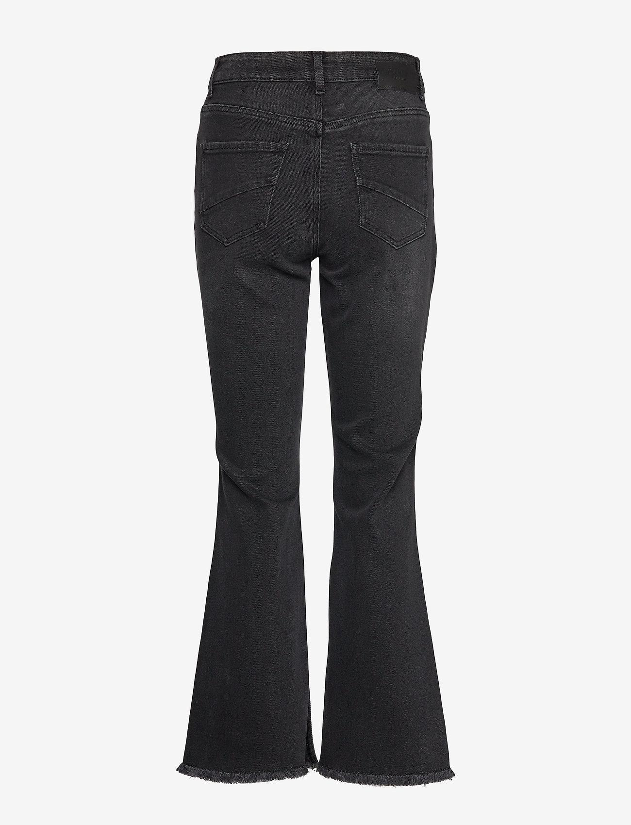 Pzliva Ultra High Waist Flared (Black Denim) - Pulz Jeans 7TJx0s