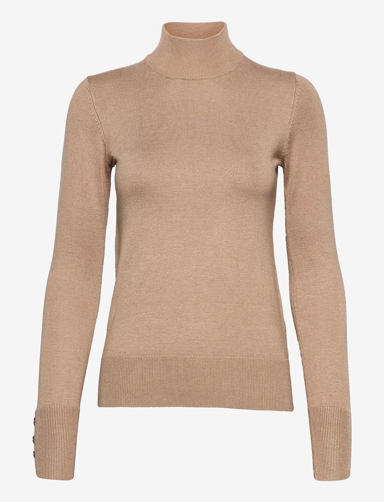 Pulz Jeans - PZSARA Pullover - turtlenecks - tannin melange - 0