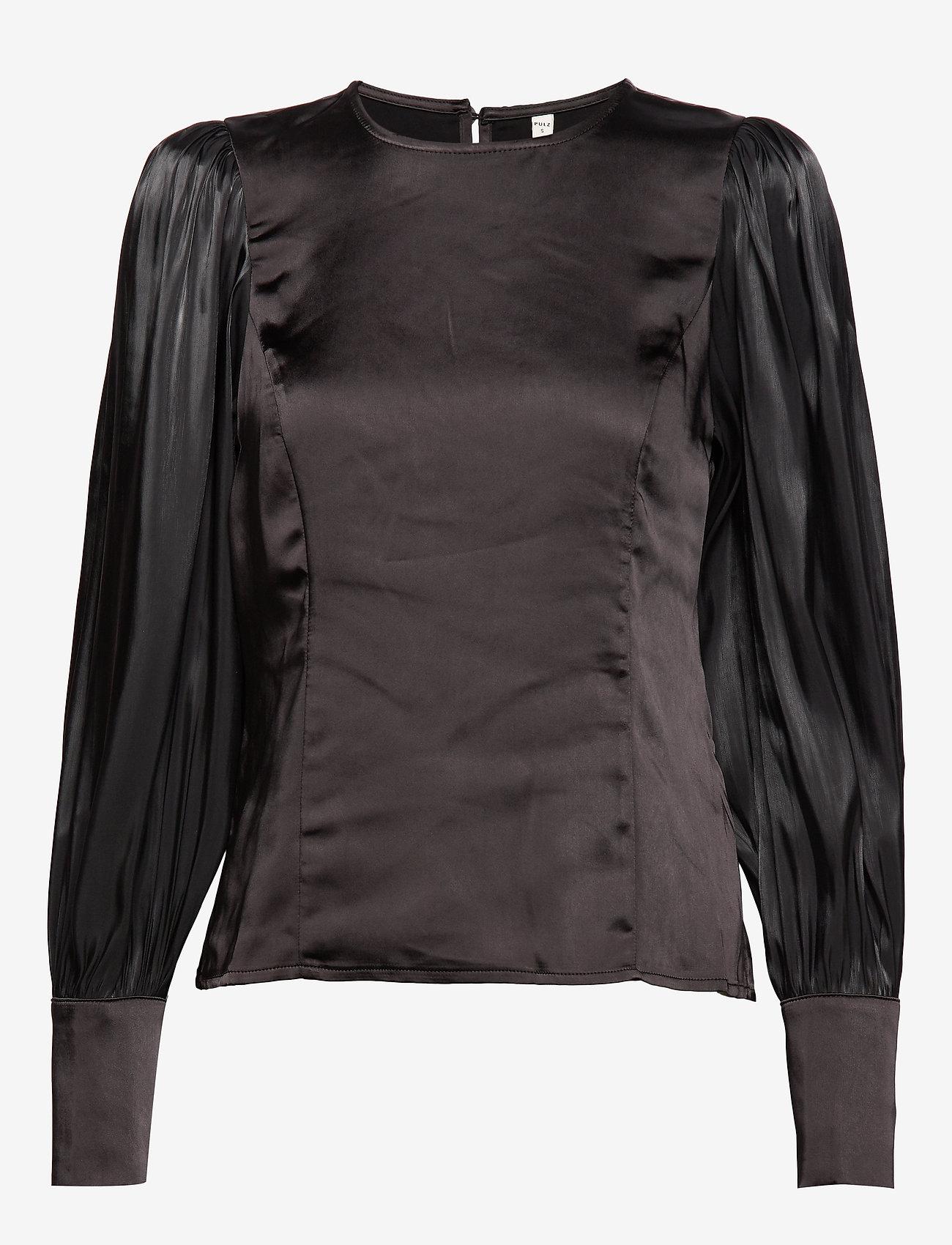 Pulz Jeans - PZSILLE Blouse - blouses à manches longues - black