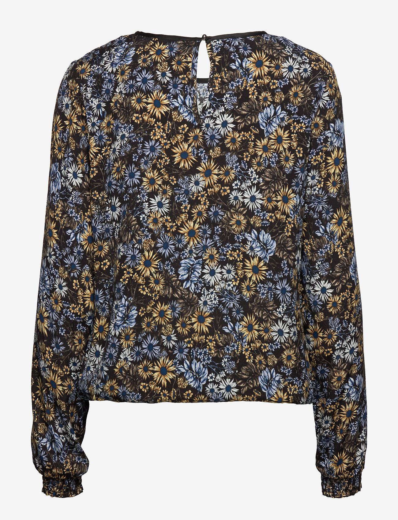 Pzlouise Blouse (Black Flower) - Pulz Jeans wxTC9O