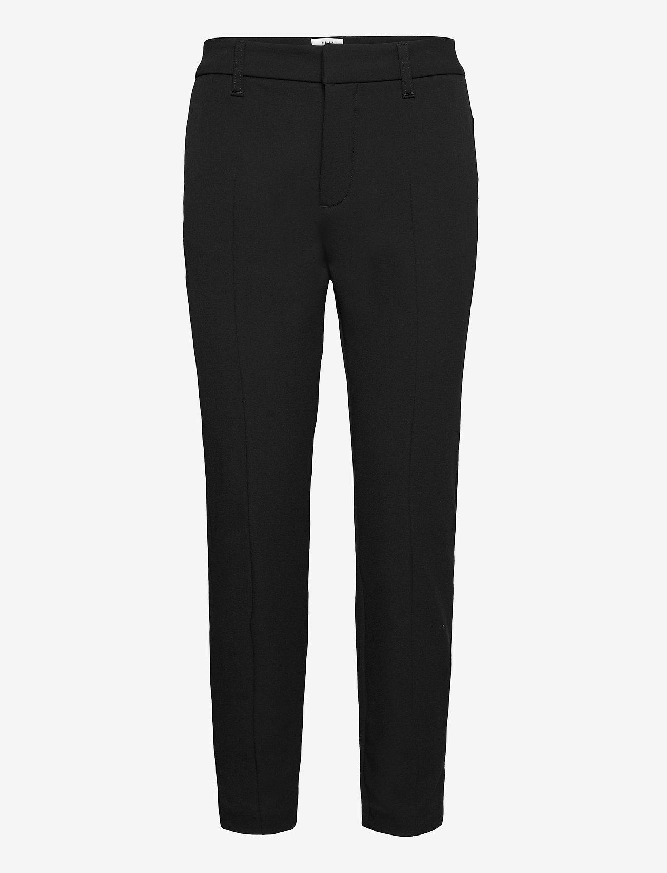 Pulz Jeans - PZCLARA Pant Above - bukser med lige ben - black beauty - 0