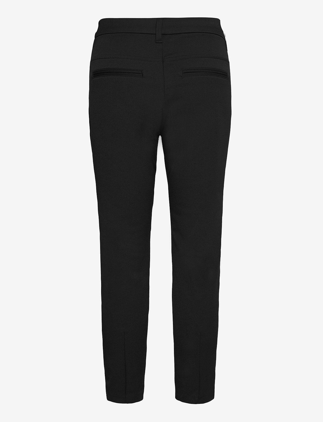 Pulz Jeans - PZCLARA Pant Above - bukser med lige ben - black beauty - 1