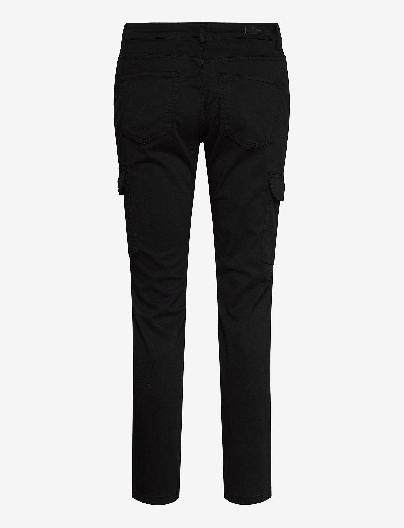 Pulz Jeans - PXELVA Pant - bukser med lige ben - black beauty - 1