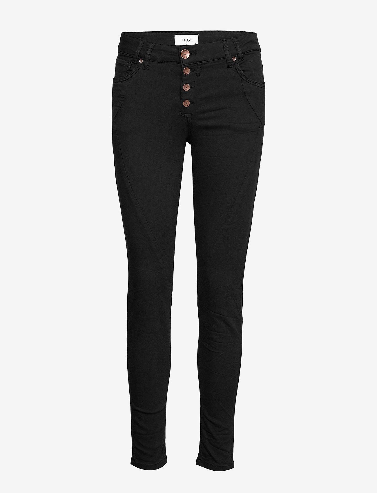 Pulz Jeans - PZROSITA PANT - skinny jeans - black beauty - 0