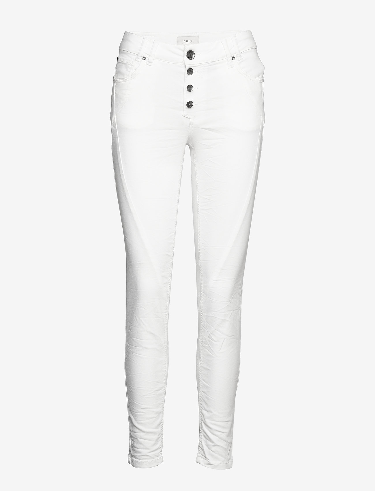 Pulz Jeans - PZROSITA PANT - skinny jeans - bright white - 0