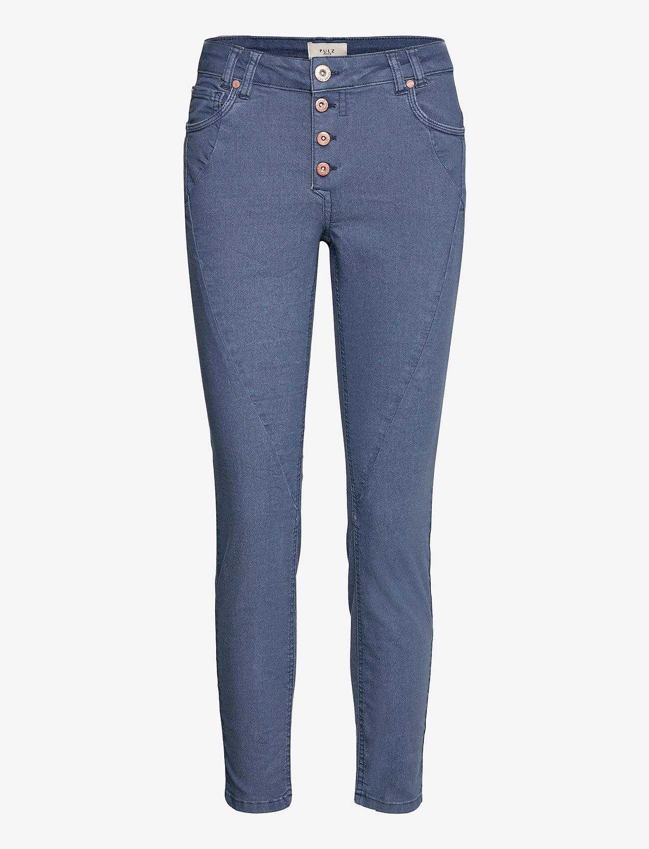Pulz Jeans - PZROSITA PANT - skinny jeans - vintage indigo - 0