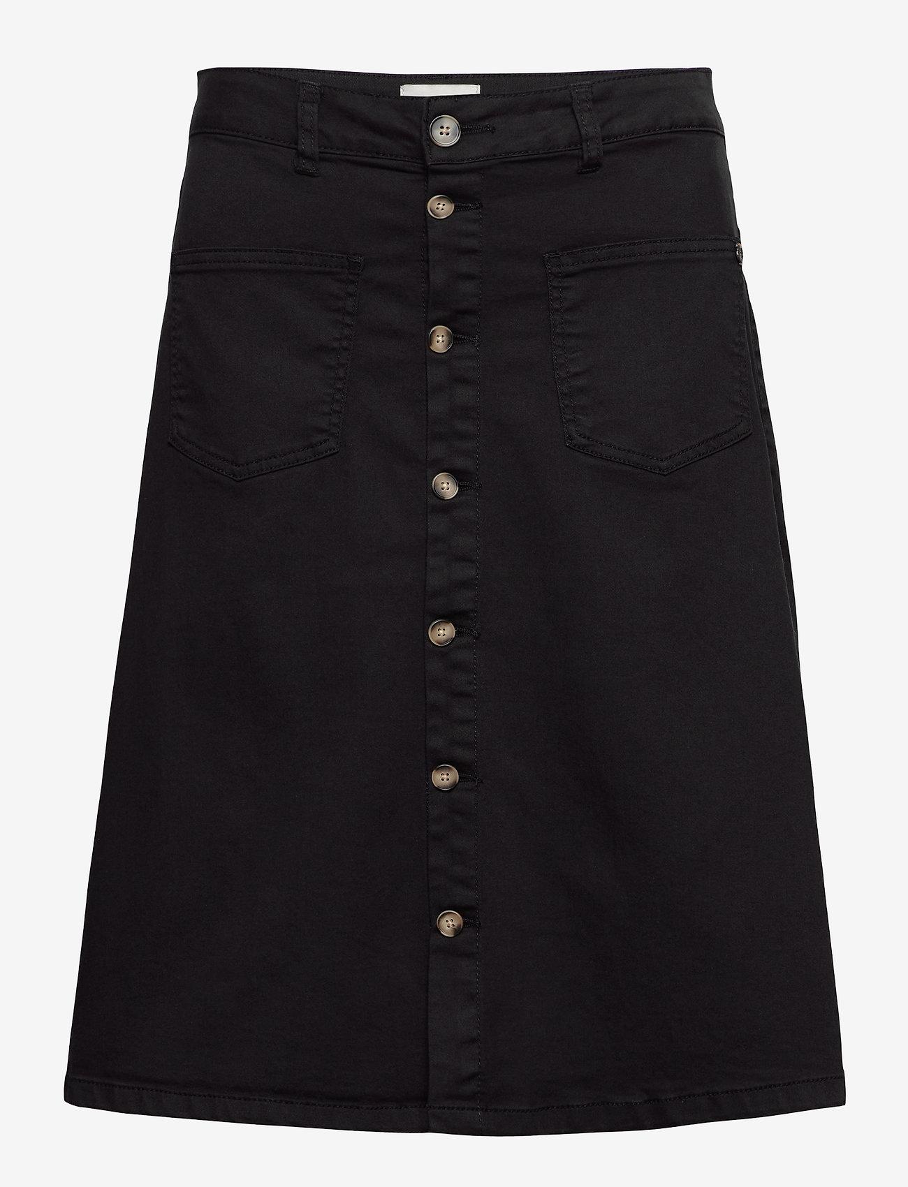Pulz Jeans - PZDITTE Skirt - denimnederdele - black beauty - 0