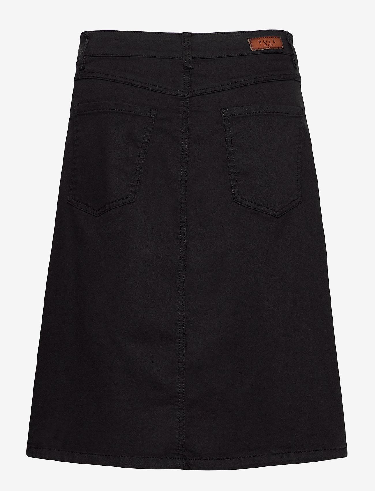 Pulz Jeans - PZDITTE Skirt - denimnederdele - black beauty - 1