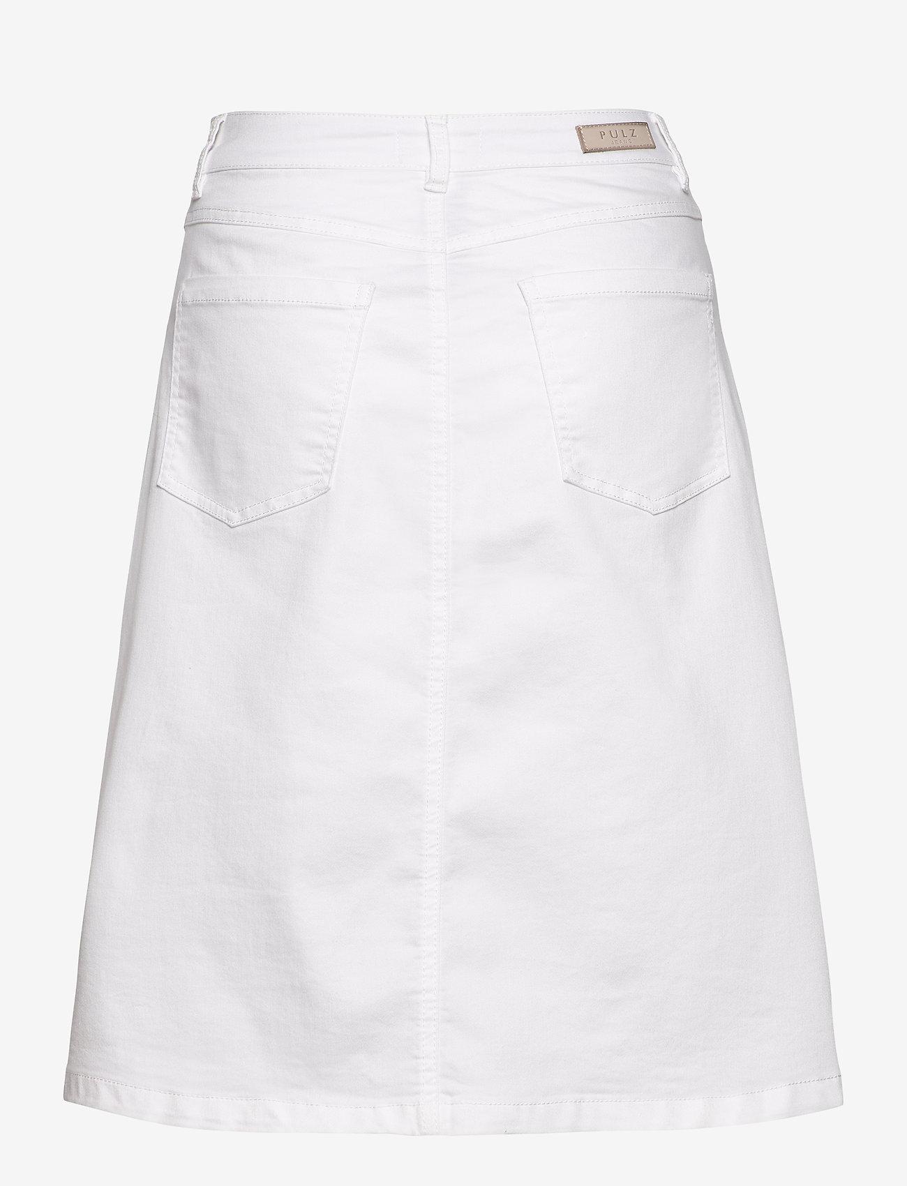 Pulz Jeans - PZDITTE Skirt - denimnederdele - bright white - 1