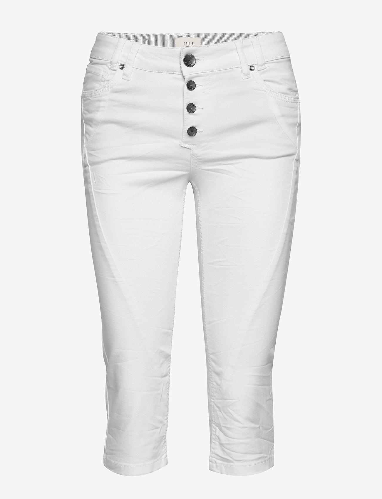 Pulz Jeans - PZROSITA Pants - capri bukser - bright white - 0