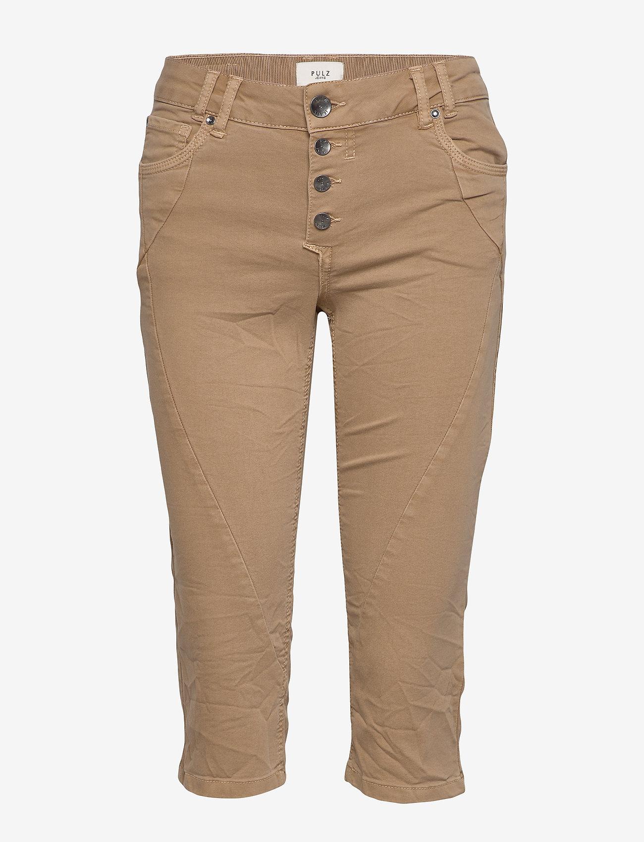 Pulz Jeans - PZROSITA Pants - capri bukser - tannin - 0