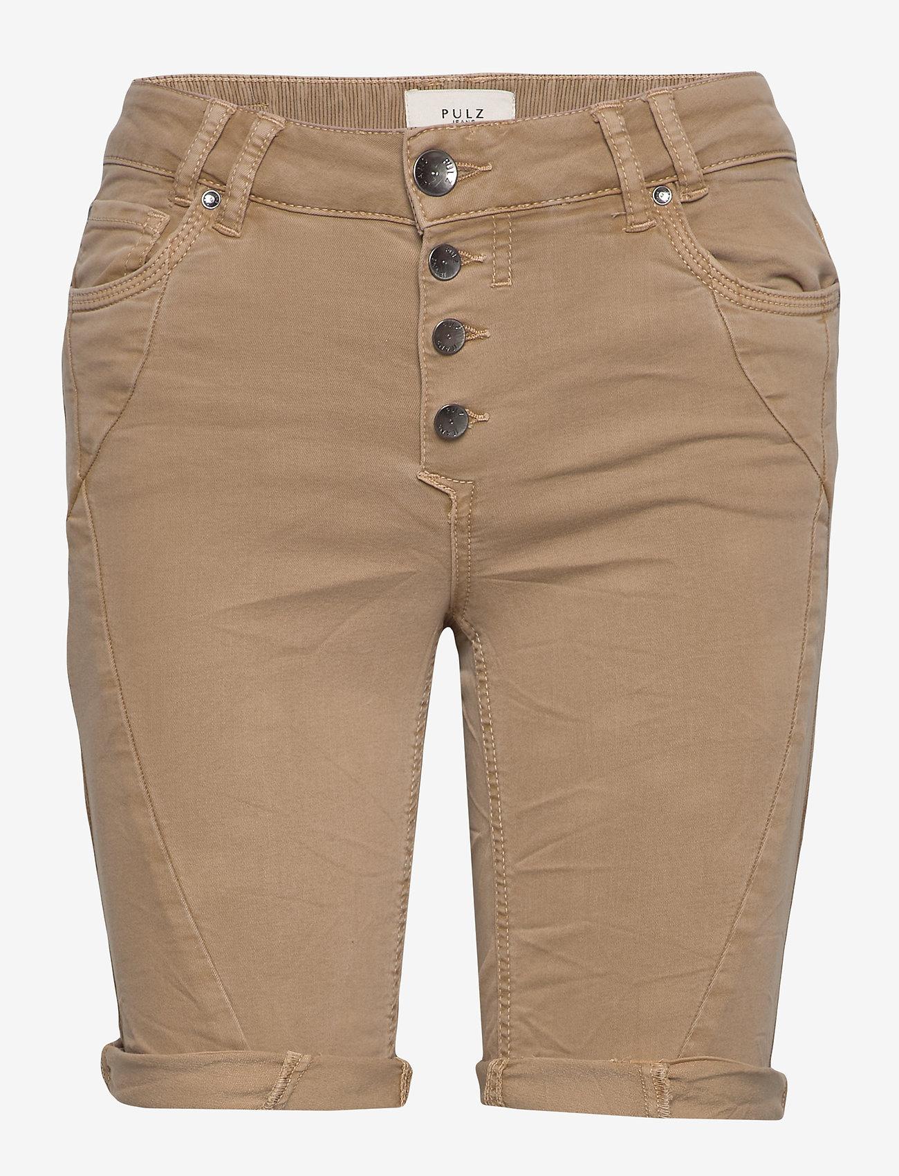 Pulz Jeans - PZROSITA Shorts - denimshorts - tannin - 0