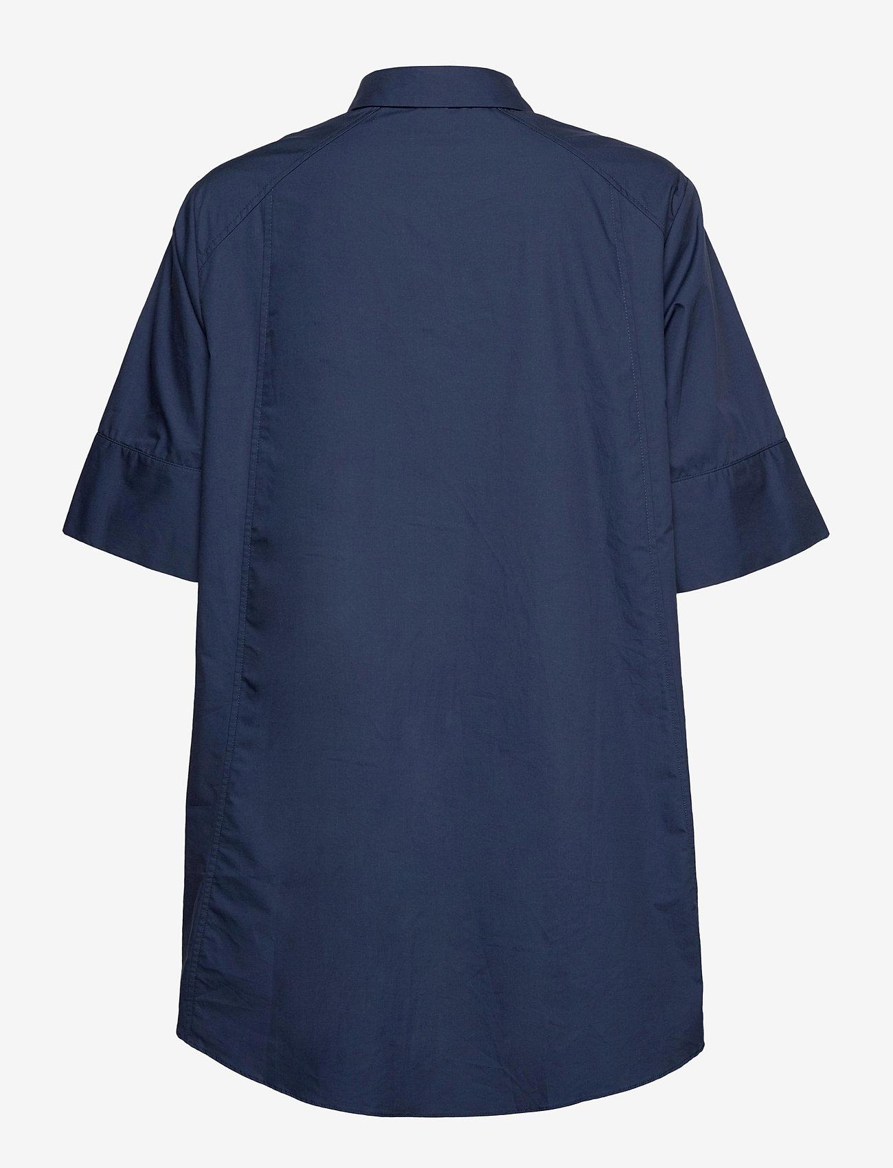 Pulz Jeans - PZWILLO Shirt - overhemden met korte mouwen - dark sapphire - 1