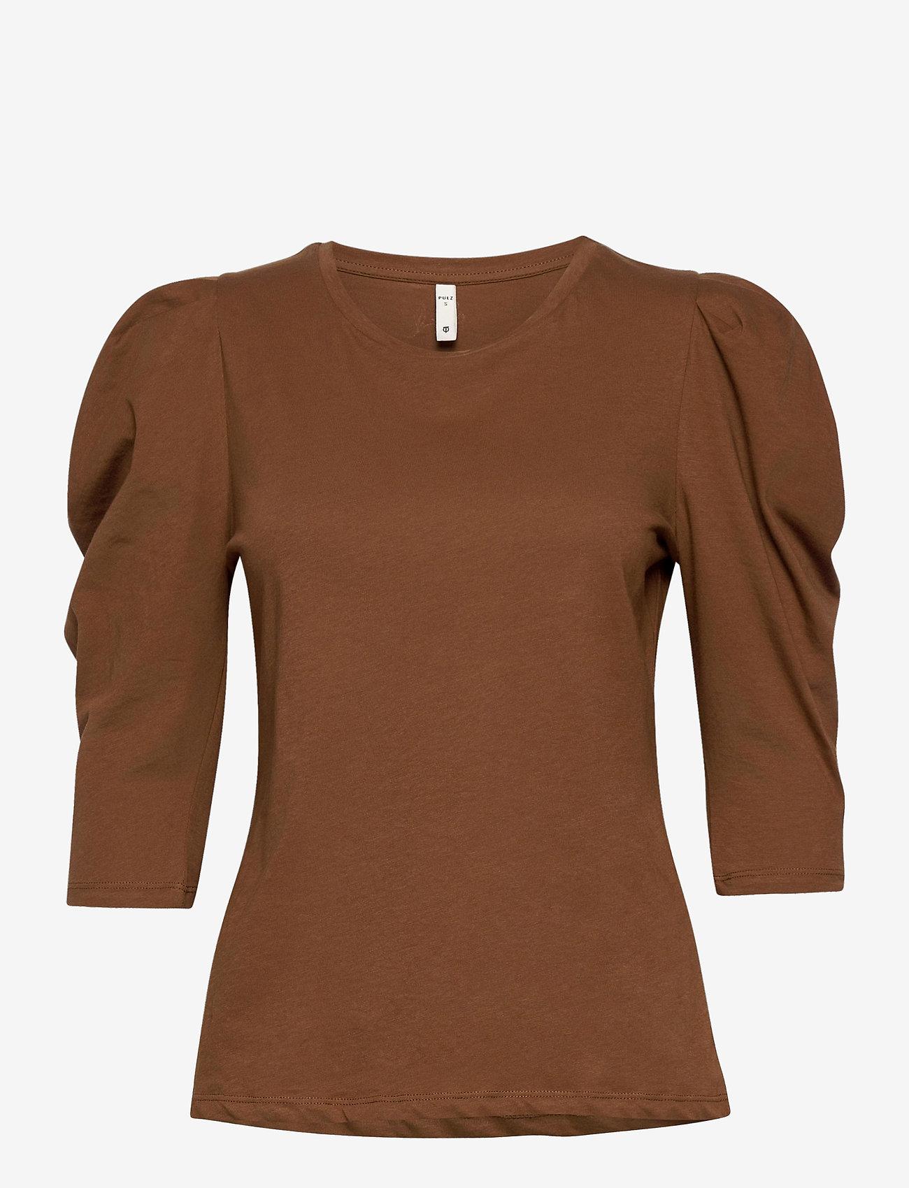 Pulz Jeans - PZCLARISSA T-shirt - t-shirts - bison - 0