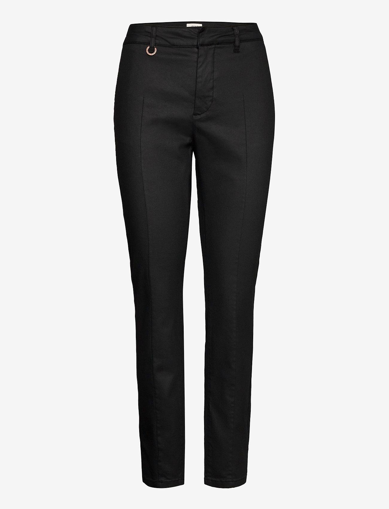 Pulz Jeans - PZCLARA Pant Coated - casual bukser - black beauty - 0