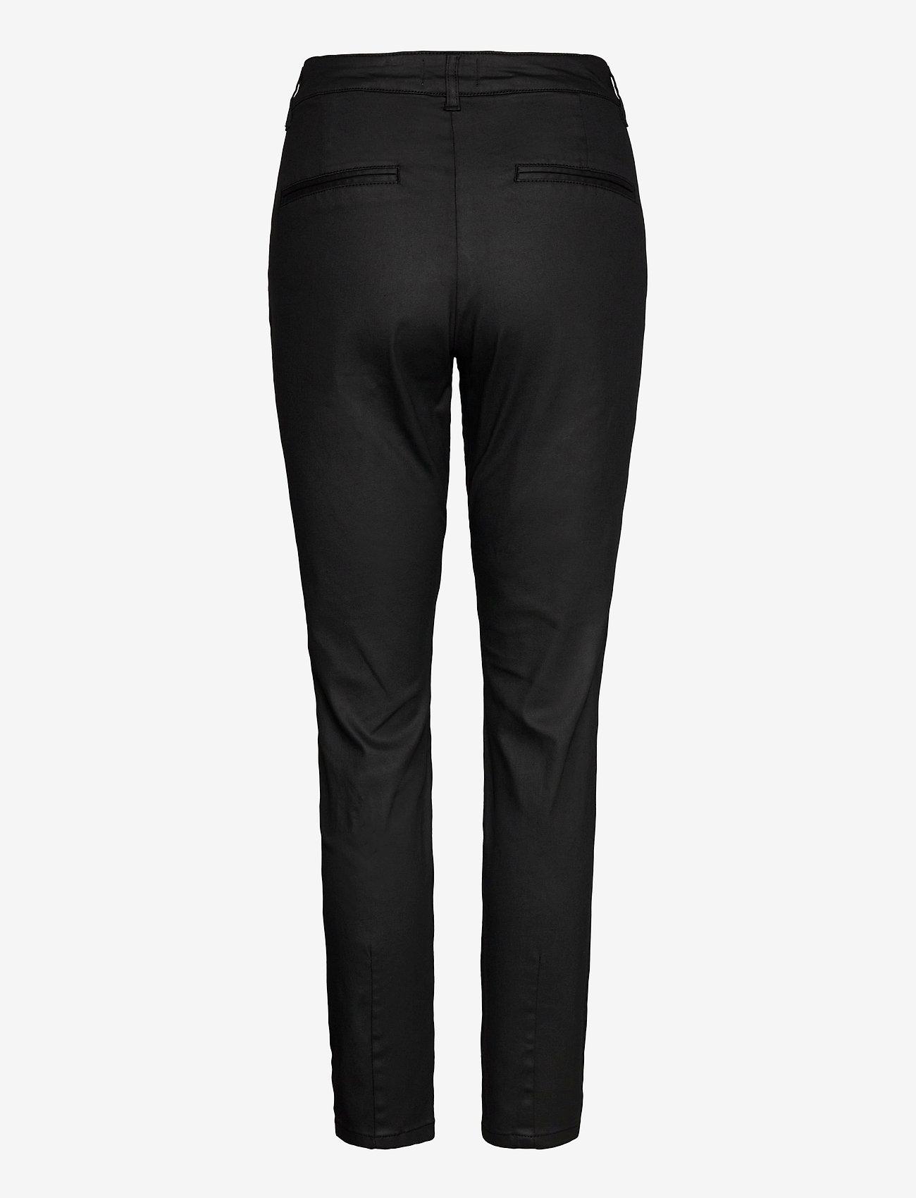 Pulz Jeans - PZCLARA Pant Coated - casual bukser - black beauty - 1