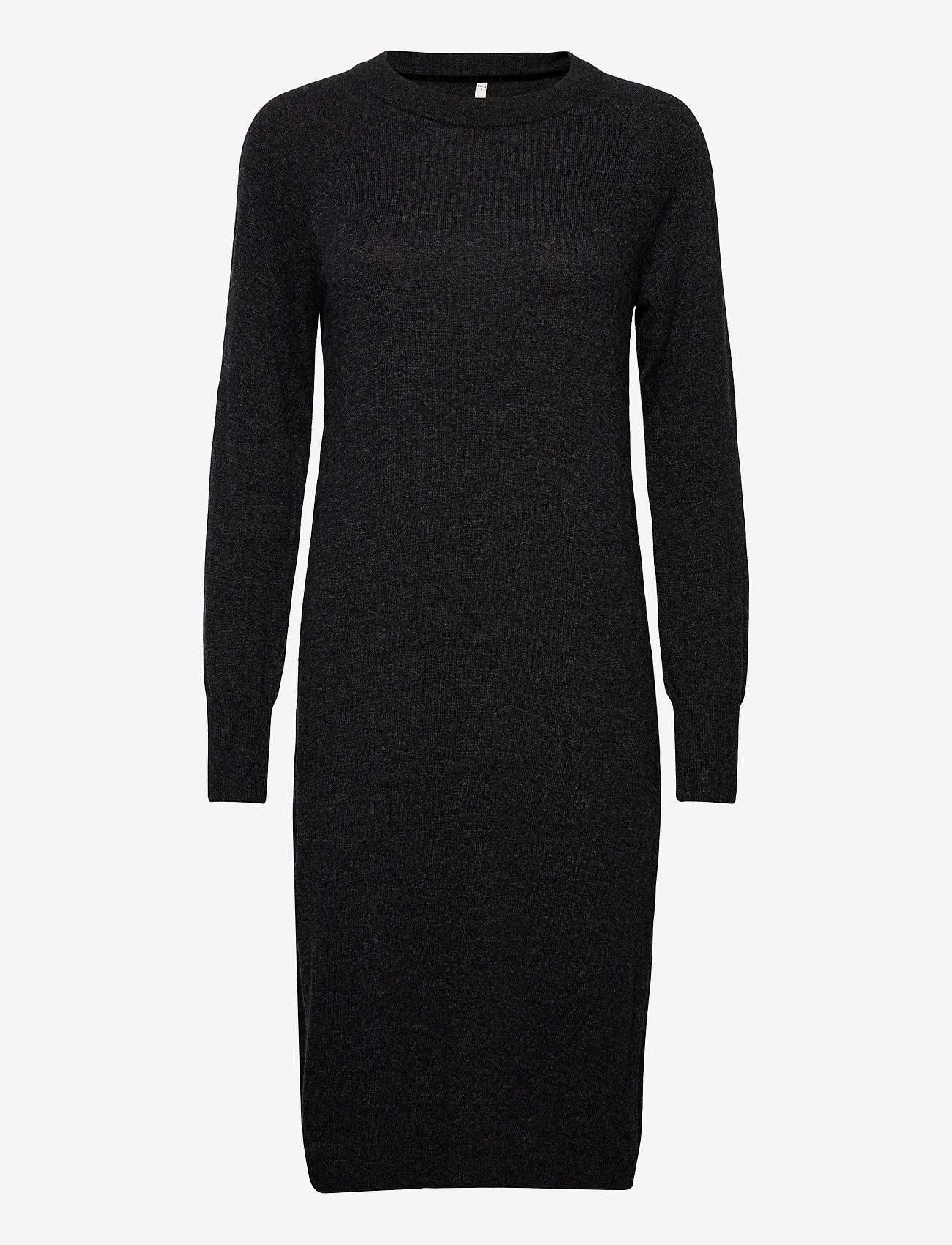 Pulz Jeans - PZNOLA Dress - strikkjoler - dark grey melange - 0