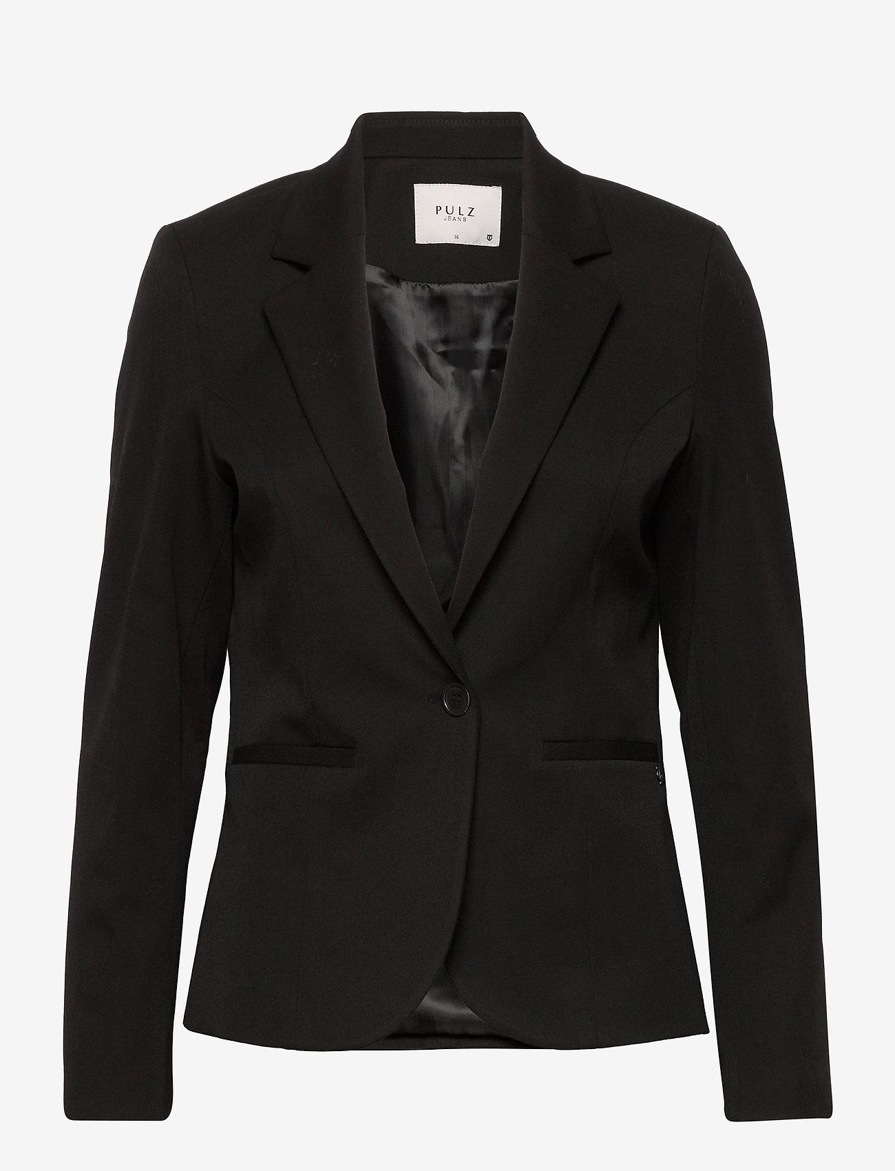 Pulz Jeans - PZJULIA Blazer - skræddersyede blazere - black beauty - 0