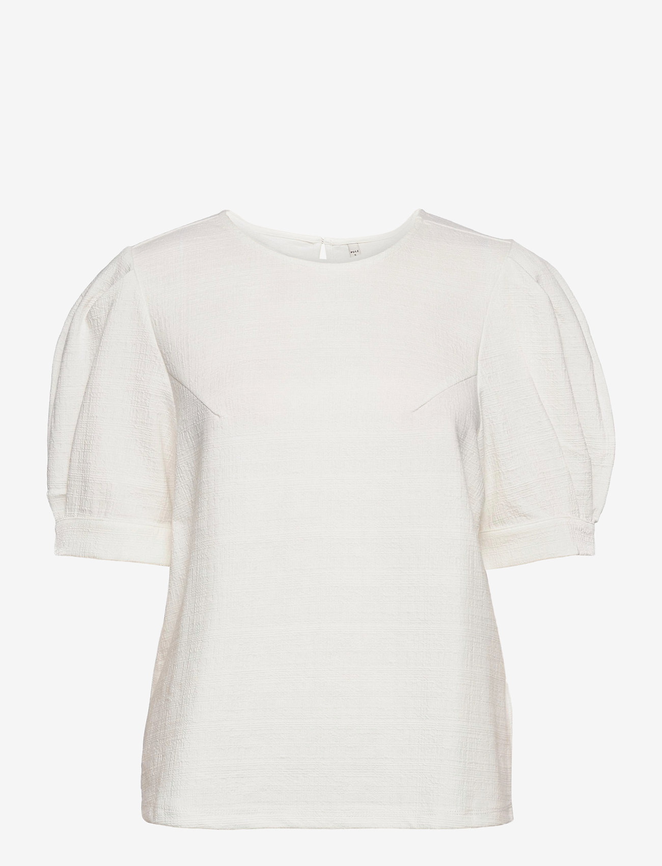 Pulz Jeans - PZAMRA Blouse - kortærmede bluser - cloud dancer - 0