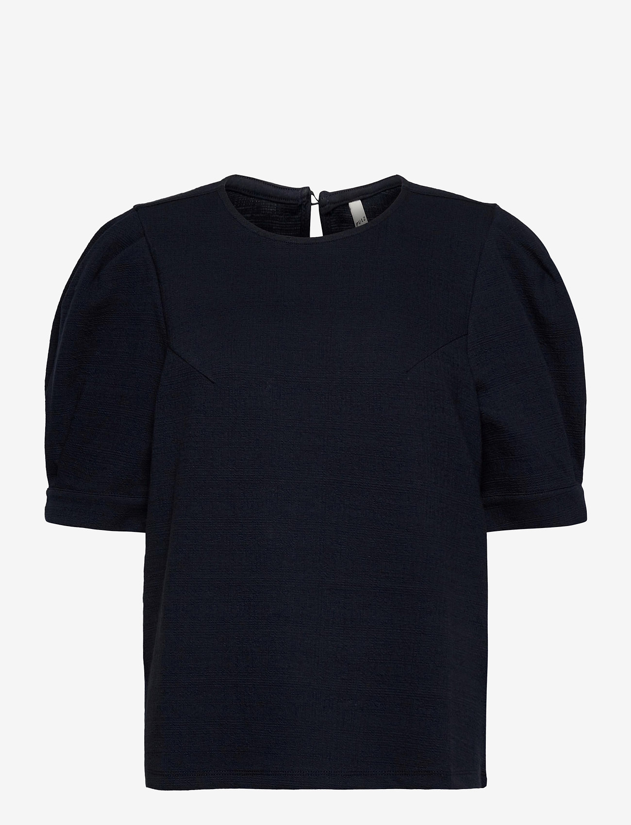 Pulz Jeans - PZAMRA Blouse - kortærmede bluser - dark sapphire - 0
