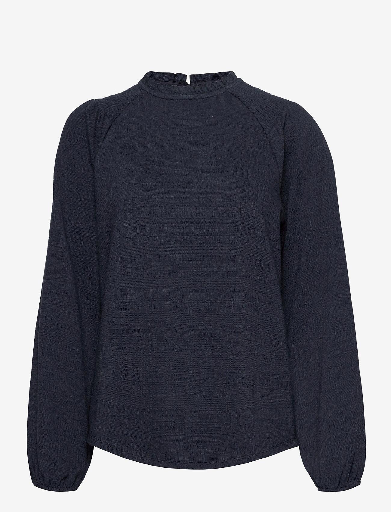 Pulz Jeans - PZAMRA Blouse - langærmede bluser - dark sapphire - 0