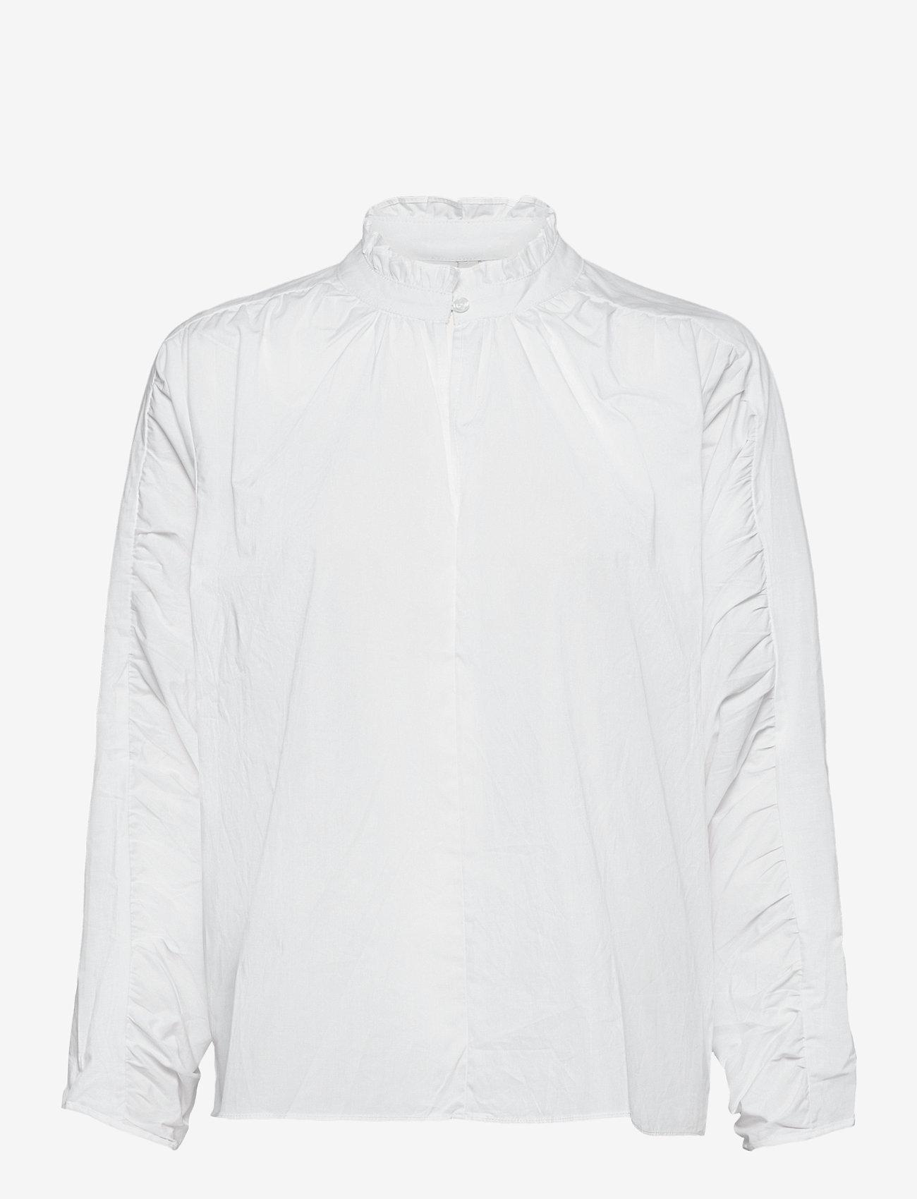 Pulz Jeans - PZWILLO Blouse - langærmede bluser - cloud dancer - 0