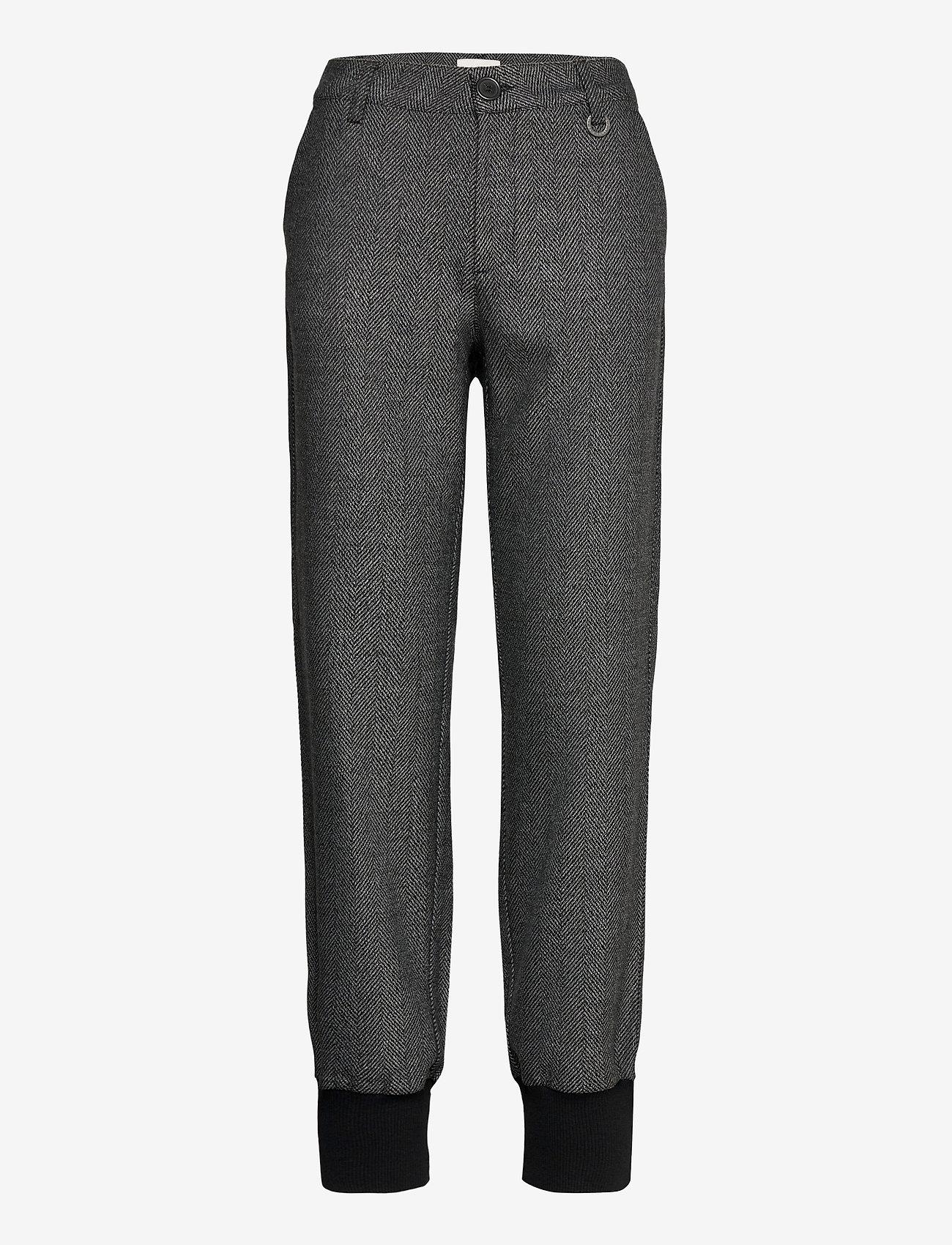 Pulz Jeans - PZMELISSA Pant - casual bukser - dark grey melange - 0