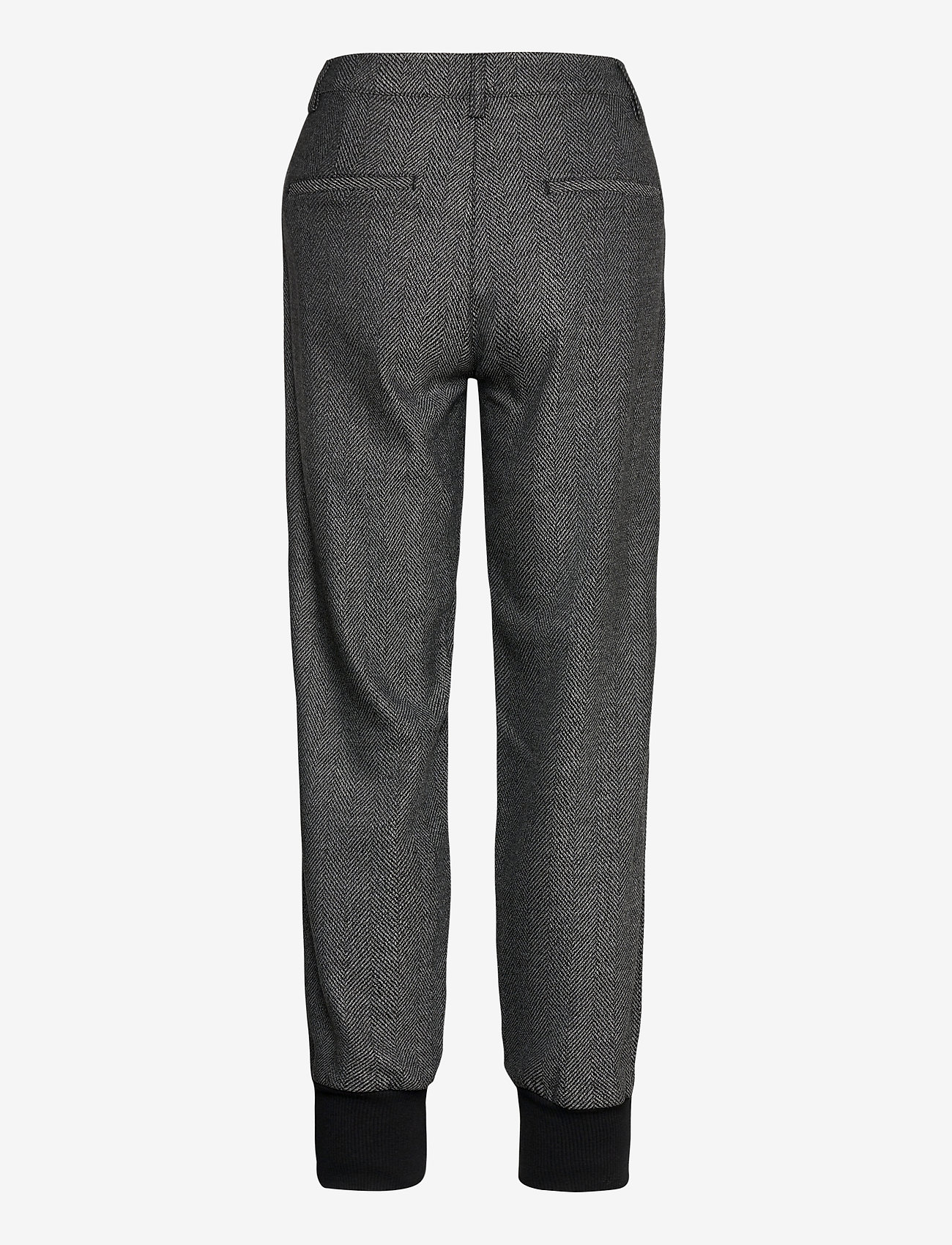 Pulz Jeans - PZMELISSA Pant - casual bukser - dark grey melange - 1