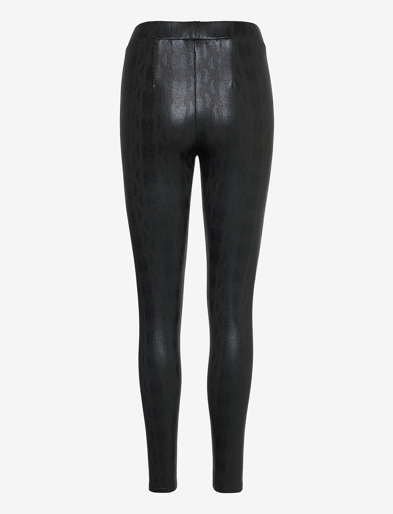 Pulz Jeans - PZSALLY Leggins - læderbukser - black beauty - 1