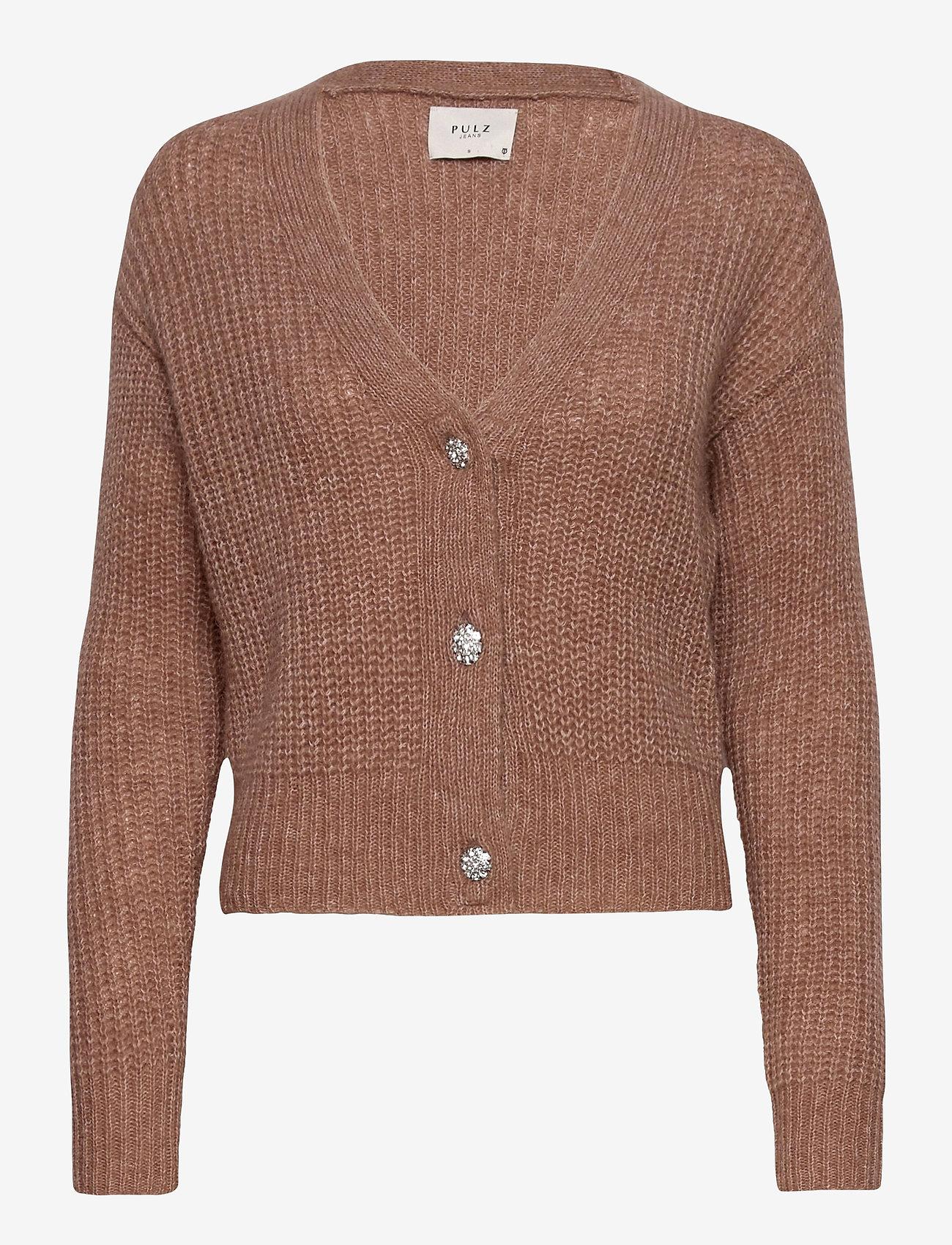 Pulz Jeans - PZIRIS Cardigan PREMIUM - cardigans - brownie melange - 0