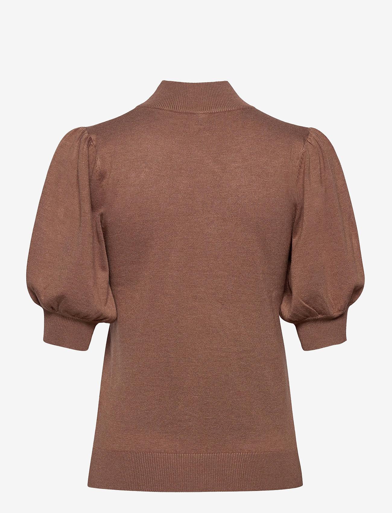 Pulz Jeans - PZSARA Pullover - gebreide t-shirts - brownie melange - 1