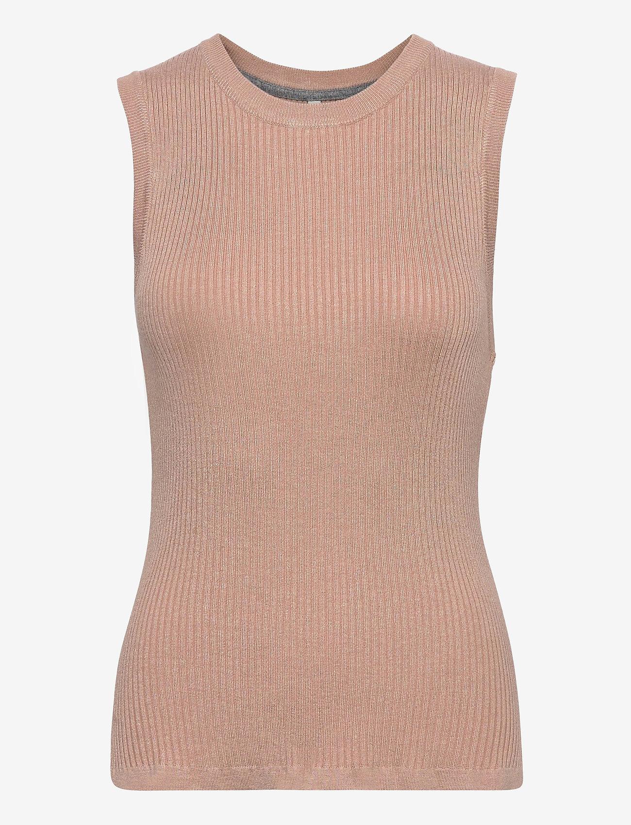 Pulz Jeans - PZSARA Pullover - strikveste - mahogany rose melange - 0
