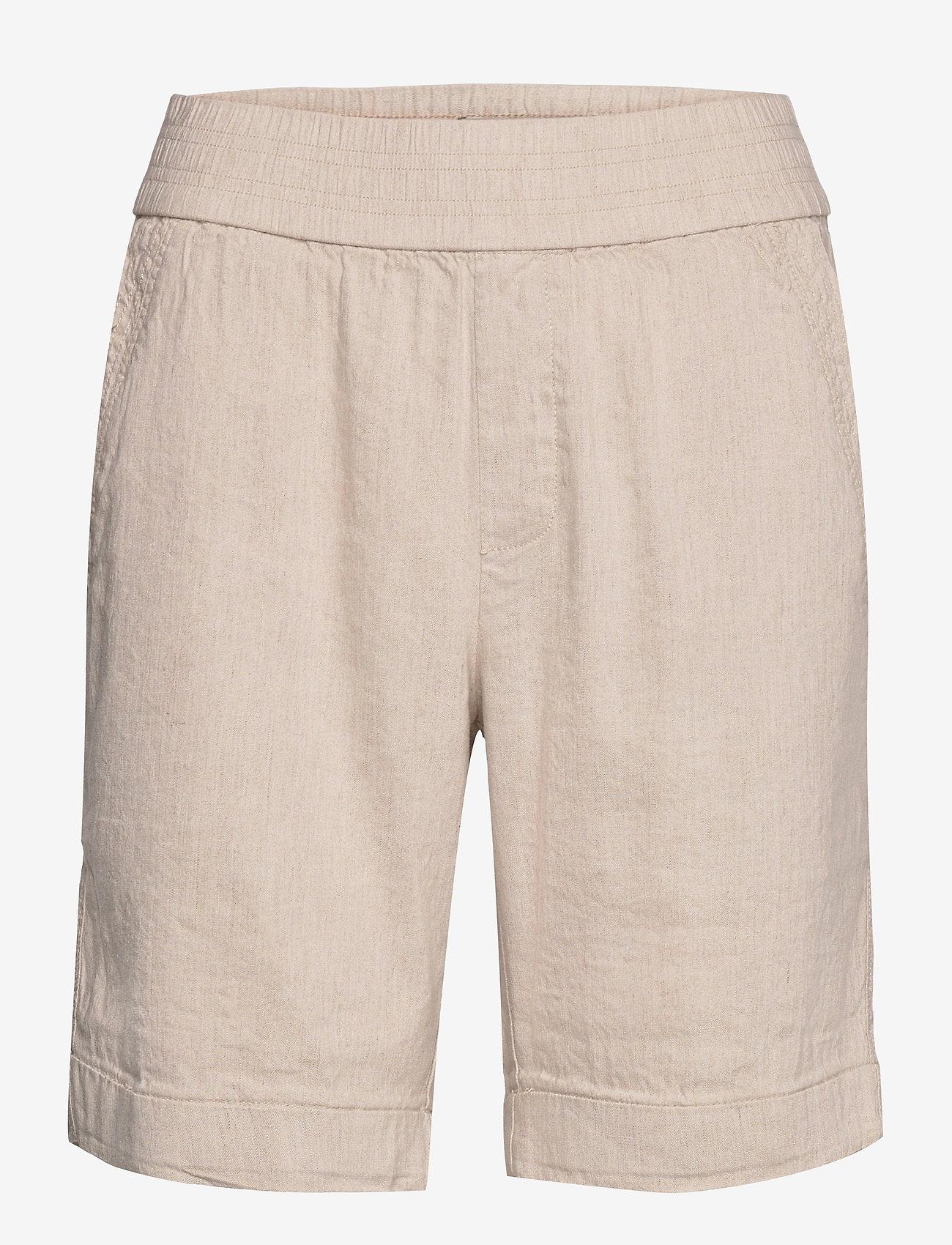 Pulz Jeans - PZLUCA Shorts PREMIUM - bermudas - sandshell melange - 0