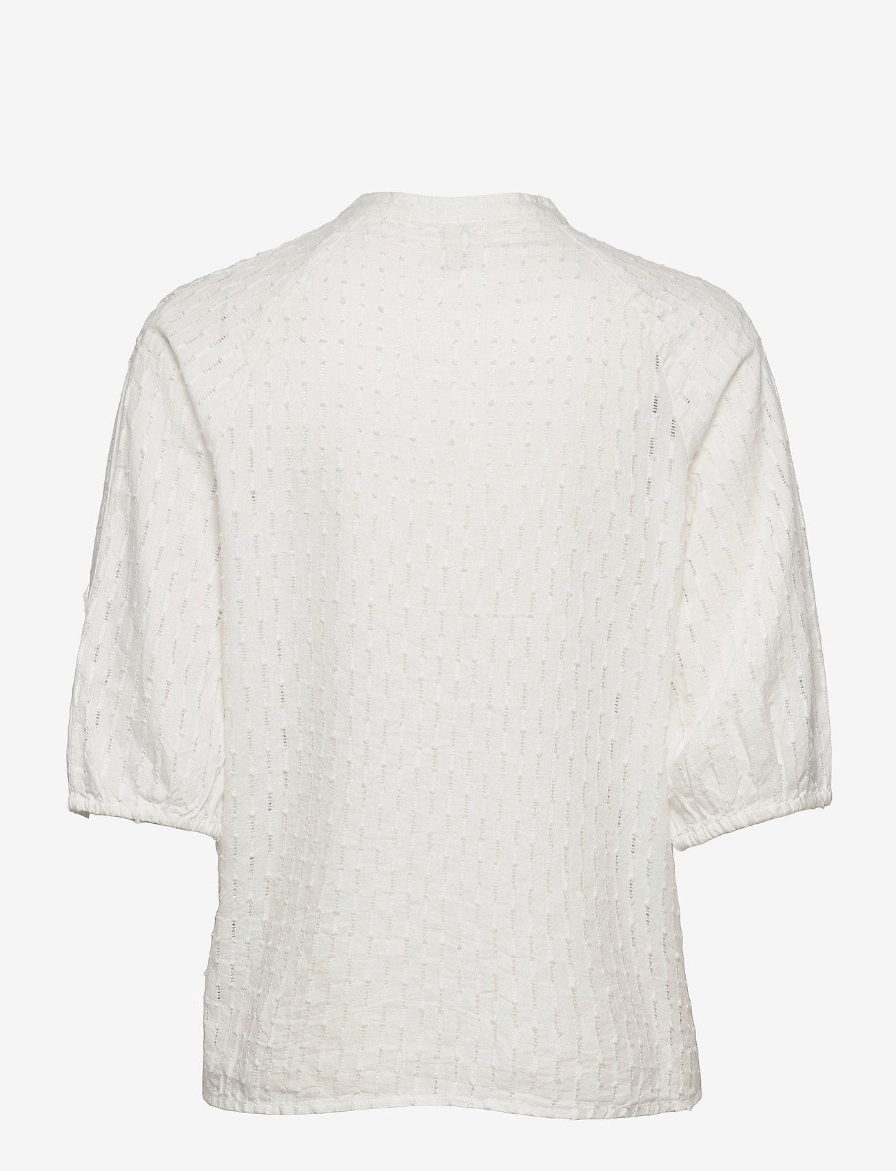 Pulz Jeans - PZLYDIA Shirt - kortærmede bluser - white sand - 1