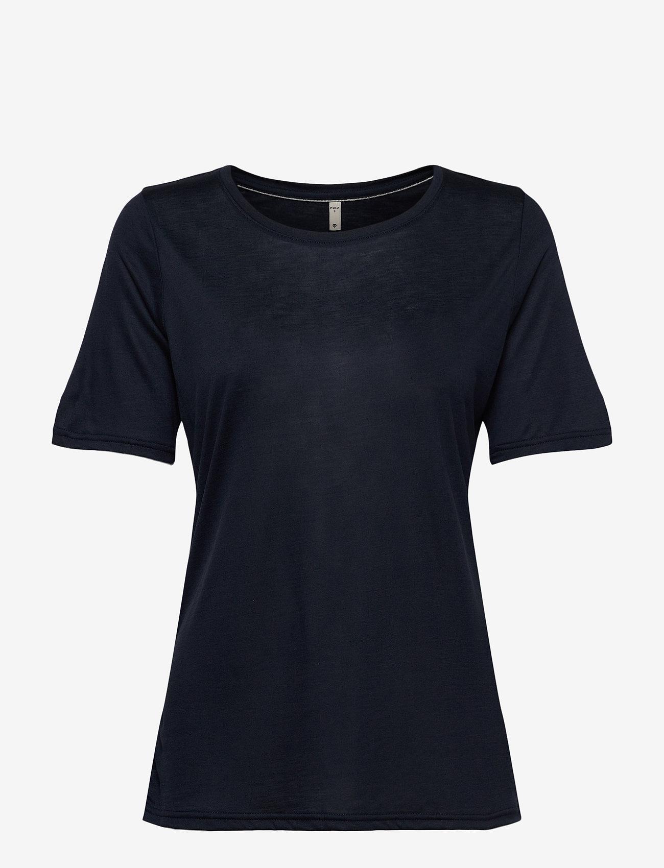 Pulz Jeans - PZCARLA T-shirt - t-shirts - dark sapphire - 0