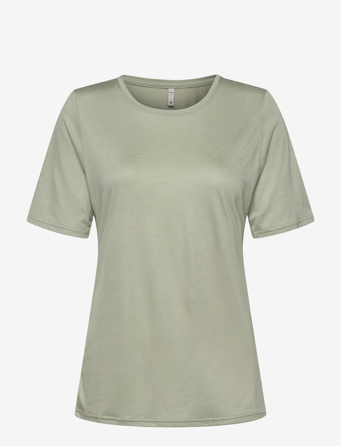 Pulz Jeans - PZCARLA T-shirt - t-shirts - desert sage - 0
