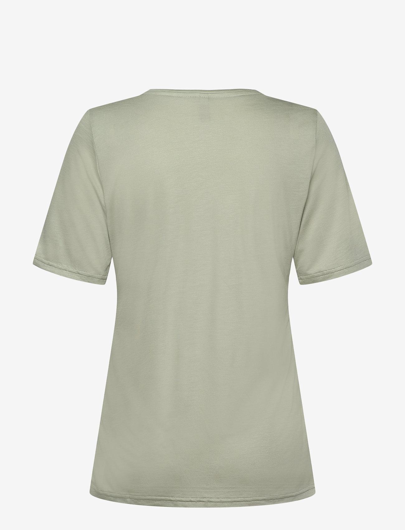 Pulz Jeans - PZCARLA T-shirt - t-shirts - desert sage - 1