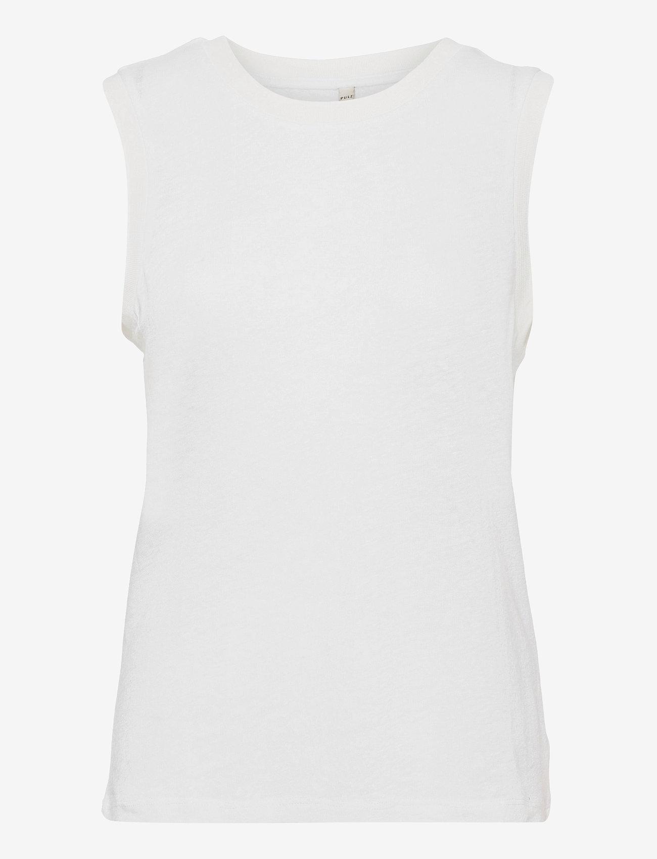 Pulz Jeans - PZAMALIE Top - Ærmeløse toppe - bright white - 0
