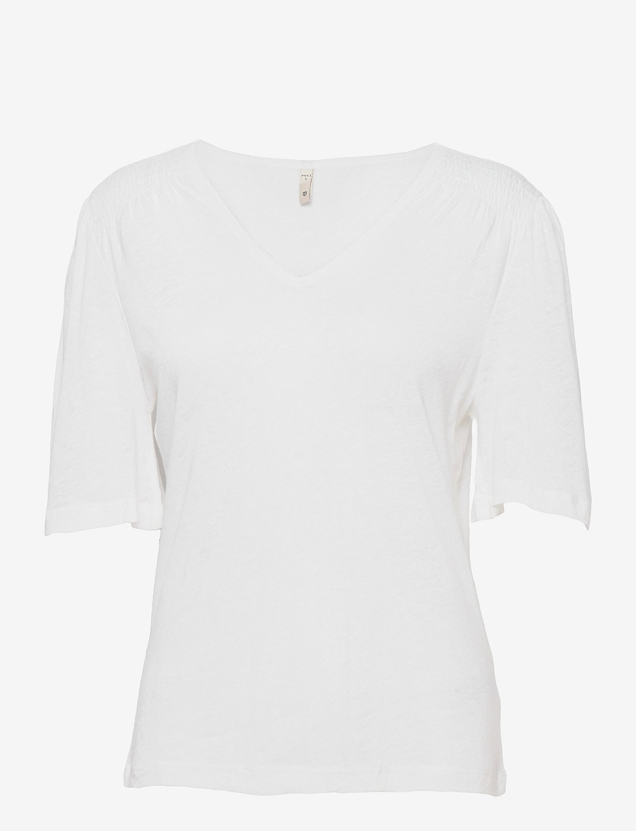Pulz Jeans - PZAMALIE T-shirt - t-shirts - bright white - 0
